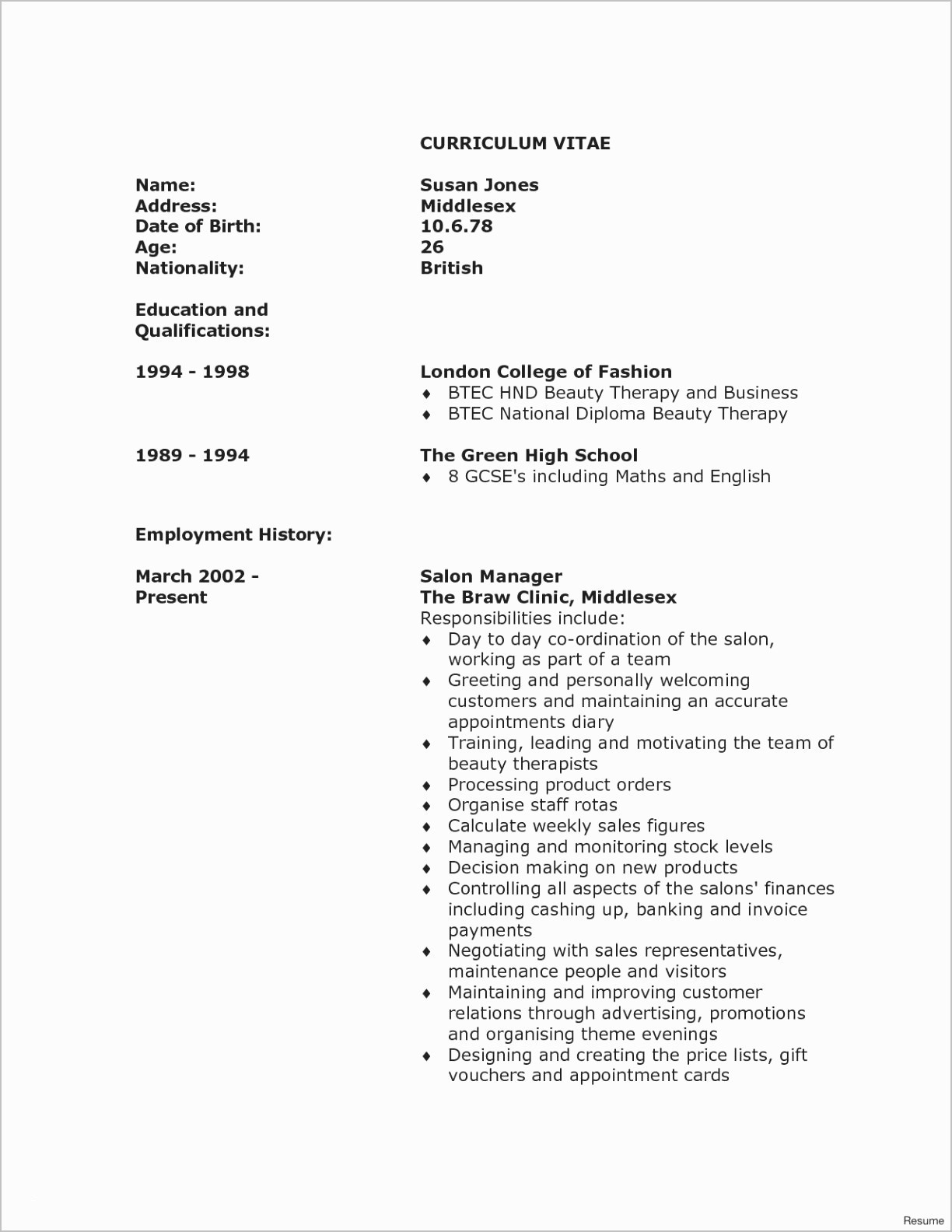 Nanny Resume Template - Best Cv Resume Sample for Freshers Pertaining to Freshman Job Cv