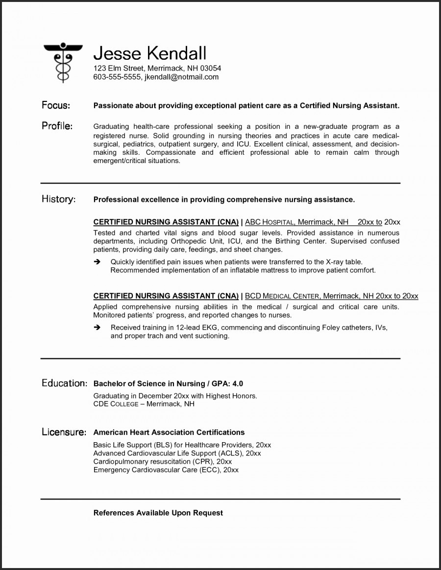 New Grad Nursing Resume Template - New Grad Nurse Resume Lovely Elegant New Nurse Resume Awesome Nurse