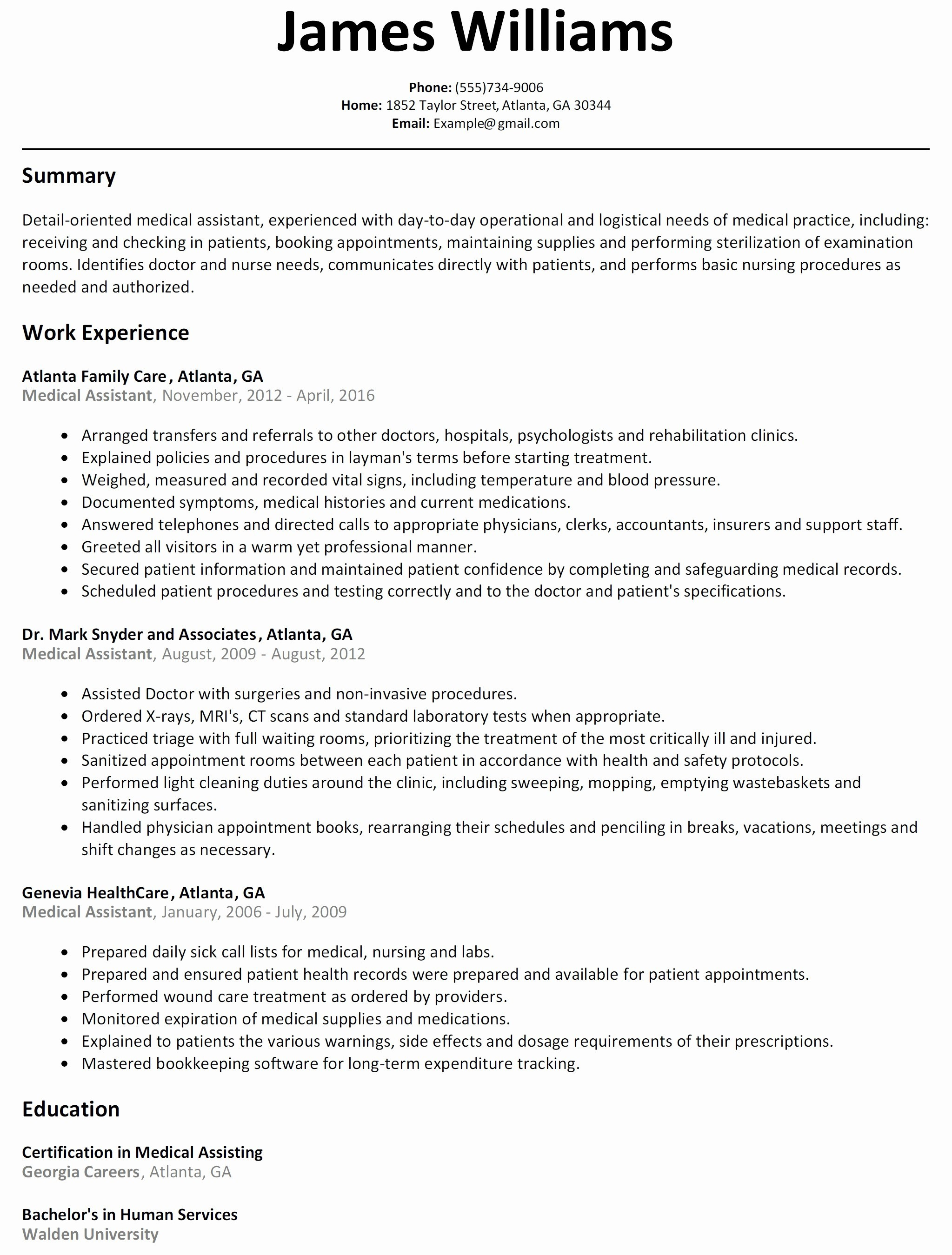 Nurse Aide Resume - 25 Lovely Nursing assistant Resume