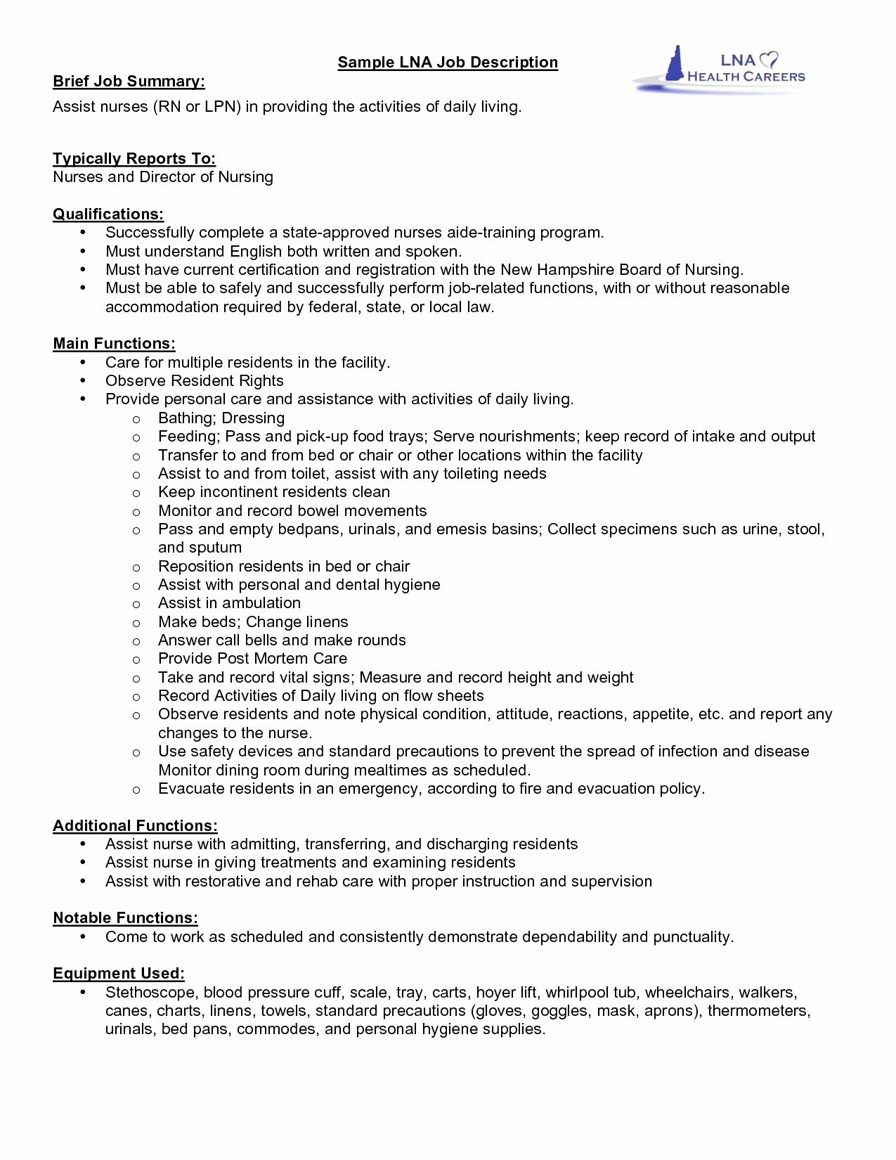 Nurse Aide Resume - Sample Federal Resume Best Federal Resume Awesome Experienced Rn