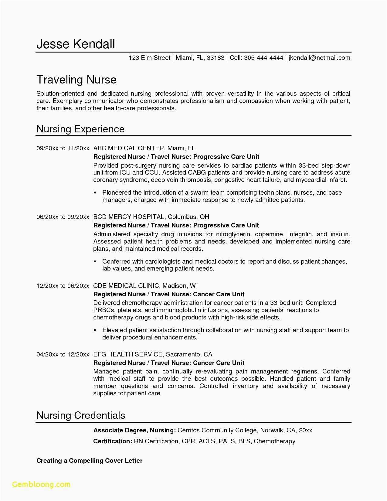 Nurse Resume Template Word - 29 Best Free Templates Resumes Microsoft Word Example