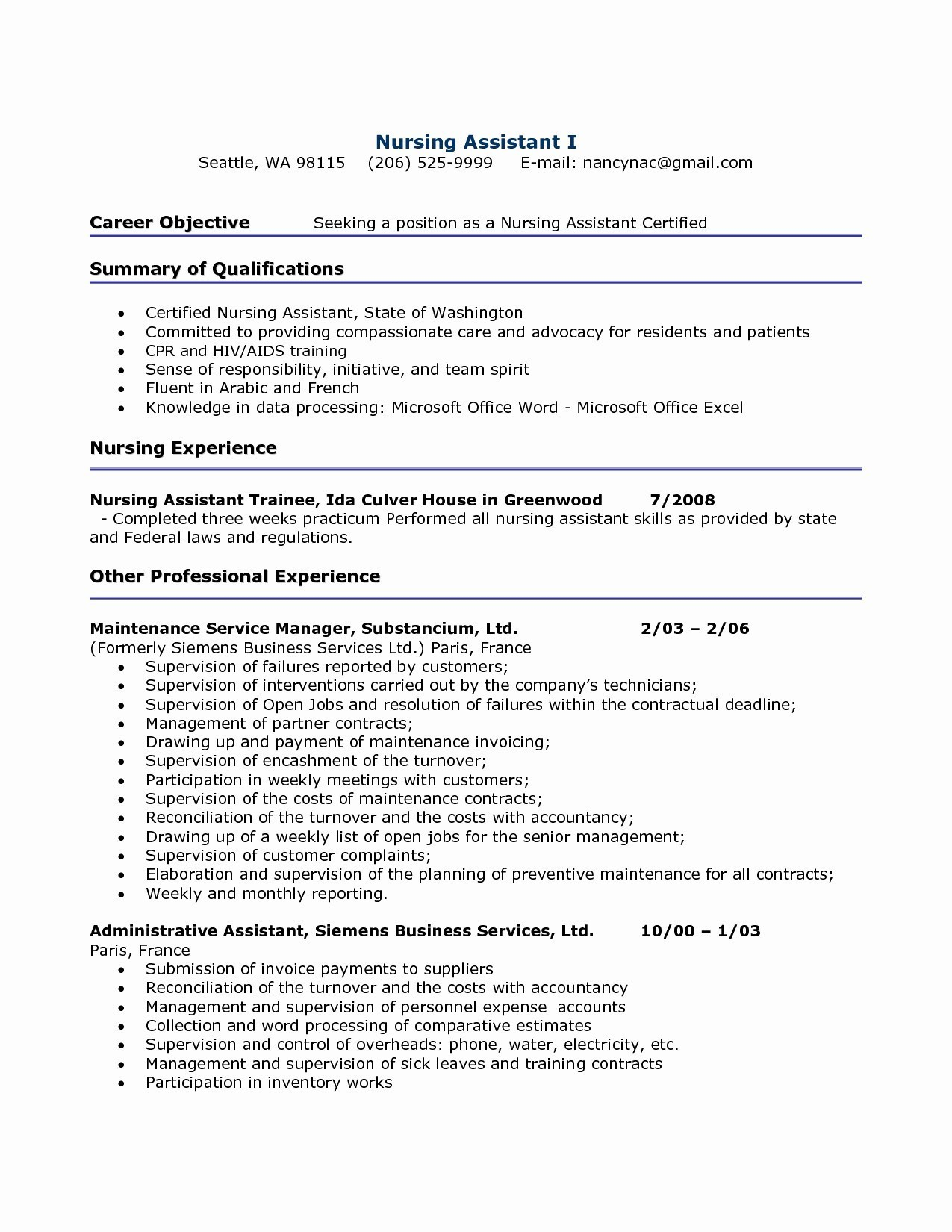 Nurse Resume Template Word - Free Resume Templete New Lovely Pr Resume Template Elegant
