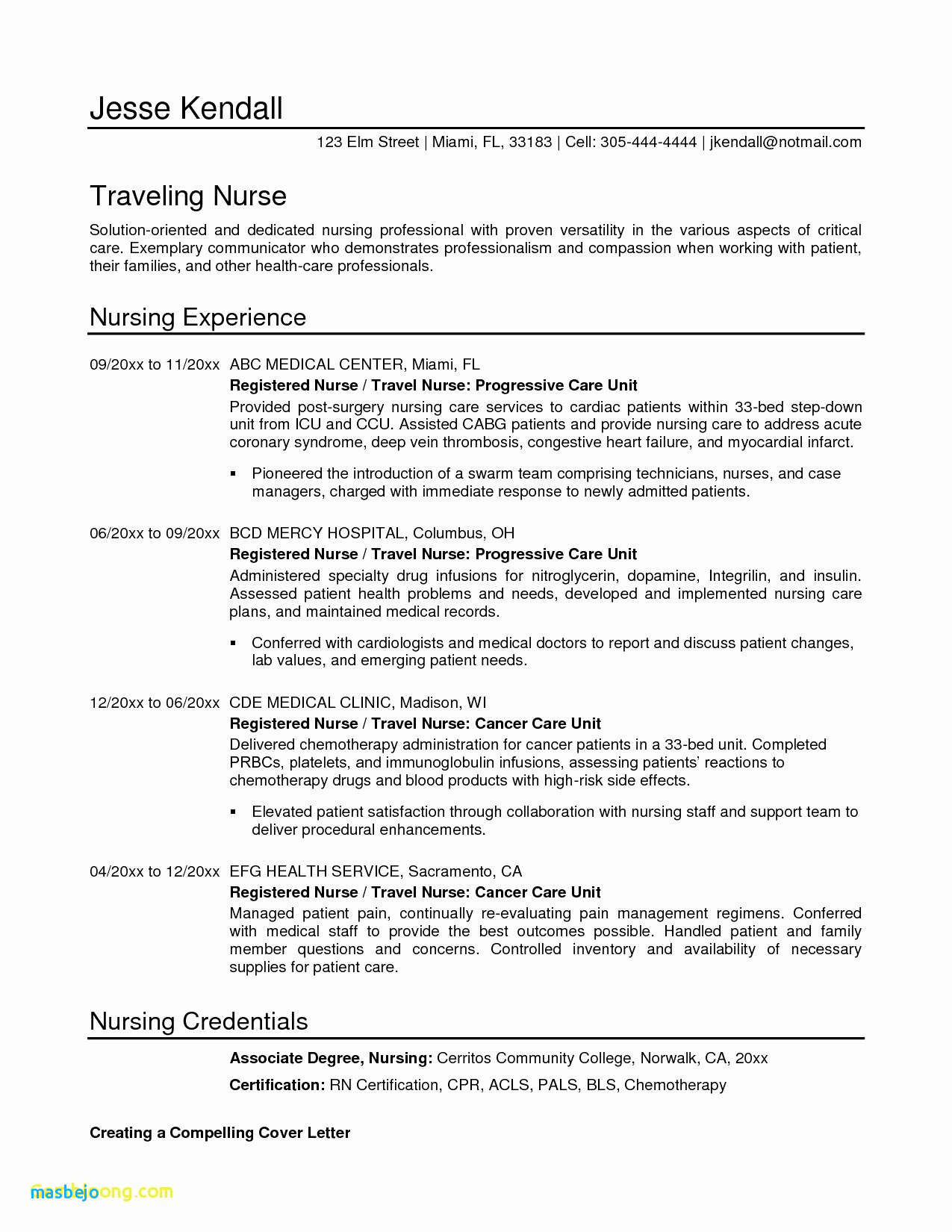 Nursing Resume Template Free Download - Awesome I Need A Free Resume Template
