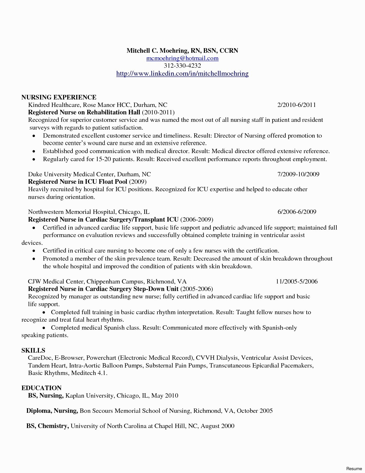Nursing School Resume - Resume Descriptions for Registered Nurses Resume Resume Examples
