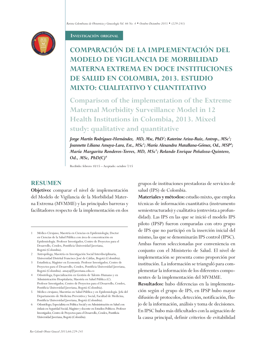 Objetivos En Un Resume - Exploring the Sustainability Of Obstetric Near Miss Case Reviews A