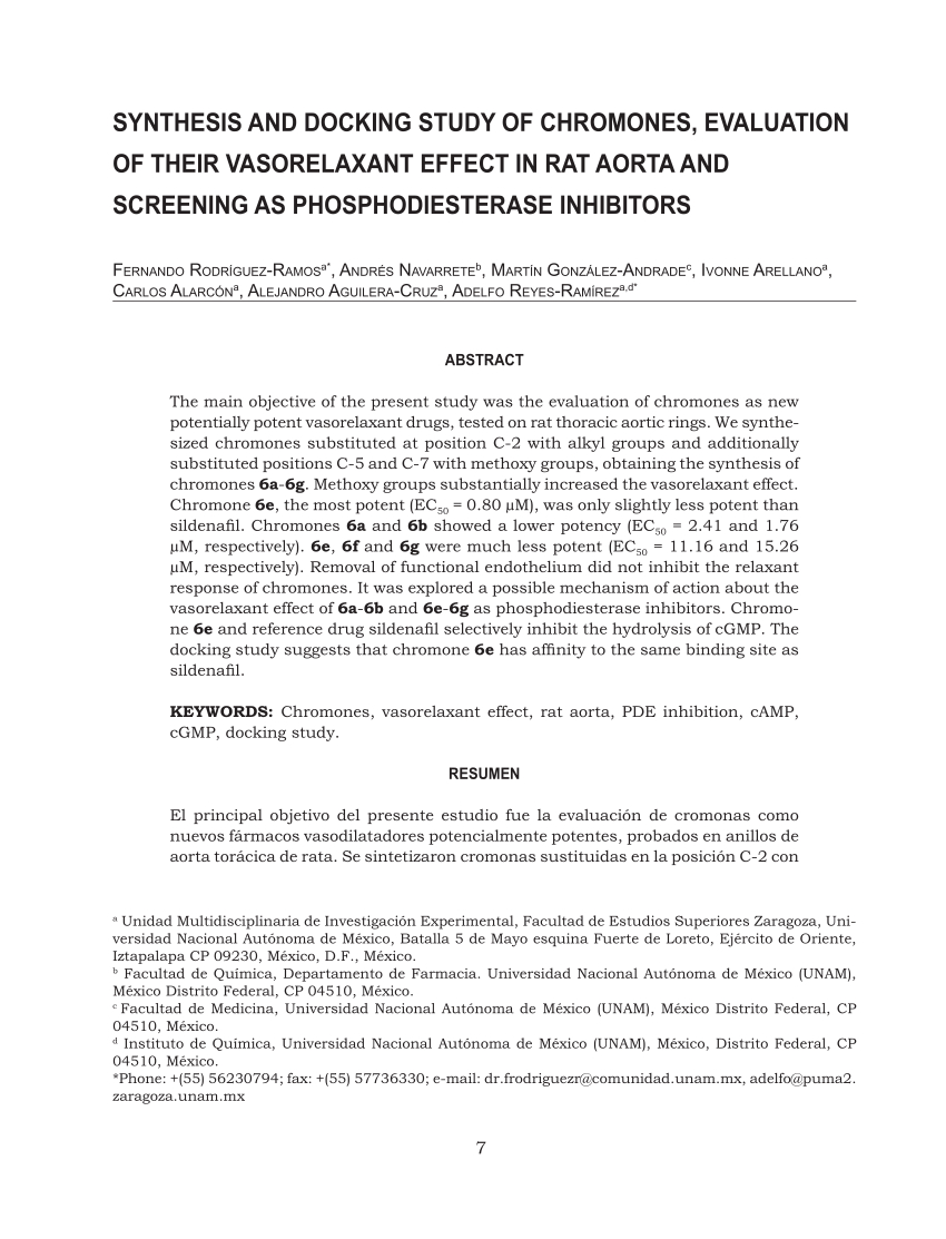 Objetivos En Un Resume - Pdf Synthesis and Docking Study Of Chromones Evaluation Of their
