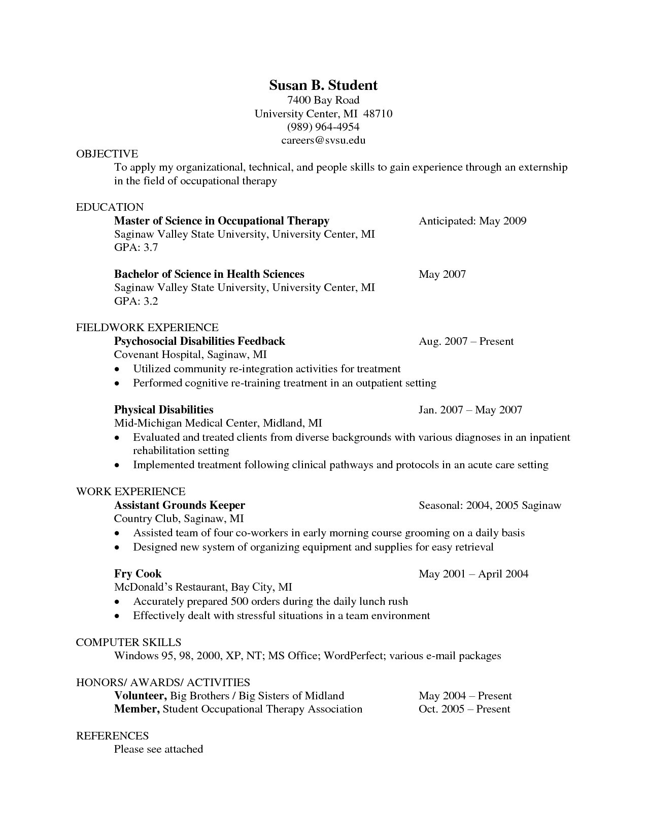 Occupational therapy Resume Template - 15 Respiratory therapist Resume Sample