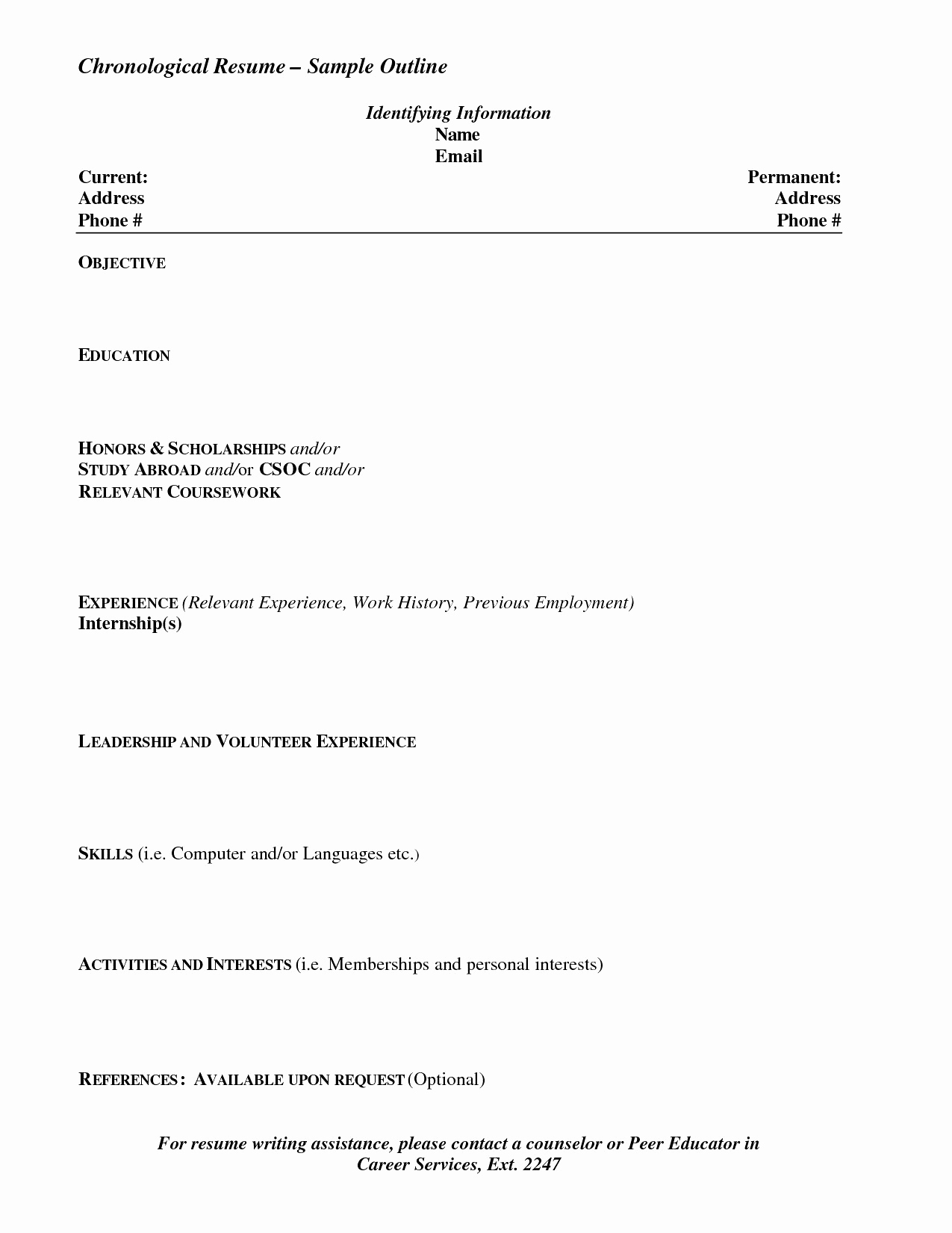 Ocs Resume Template - Ocs Resume Template 19 Fresh Free Resume Writing Services – Resume