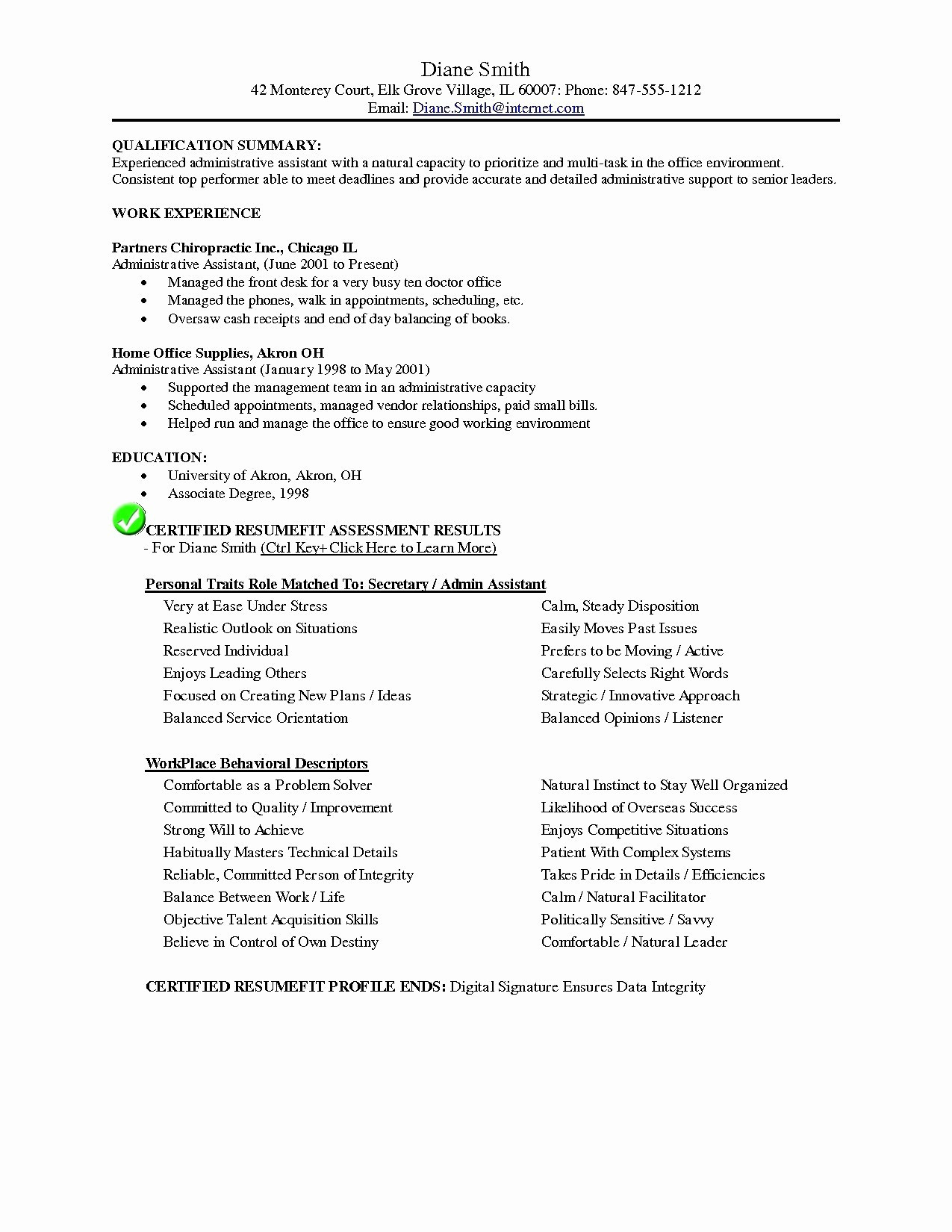 Office assistant Resume Template - New Resume Samples for Administrative assistant