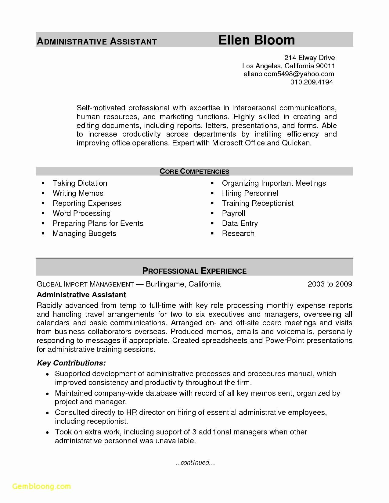 Office Manager Resume Template Free - Resume Sample for Hr Manager Elegant Hr Manager Resume New American