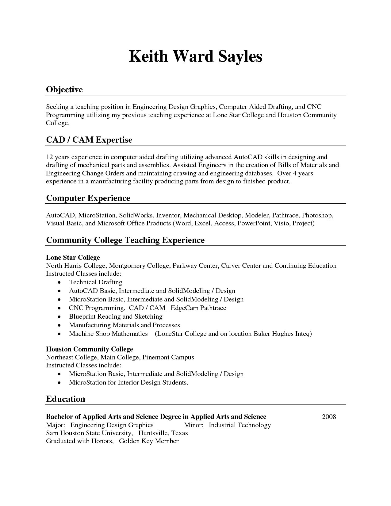 Resume Templates For Oil Field Jobs