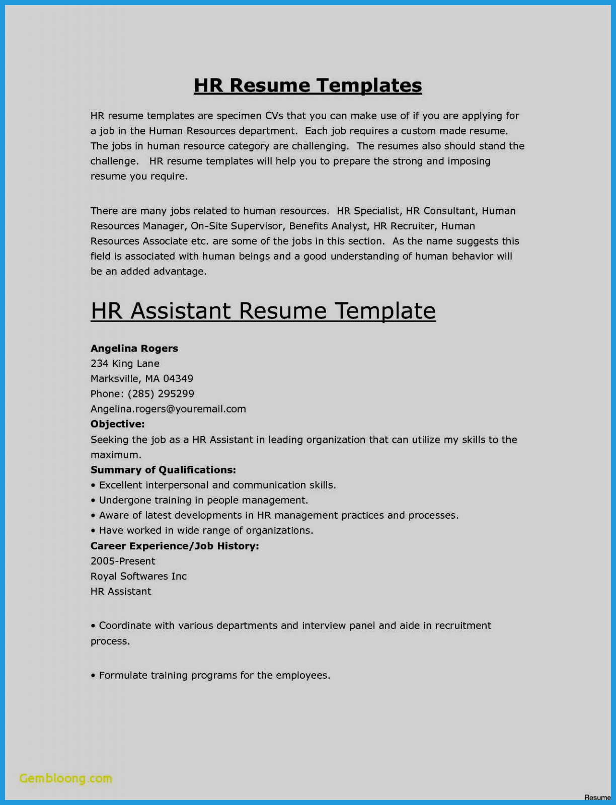 One Page Resume Template Free - Cover Letter Examples for Job Hunting Letters Resumes Free Resume
