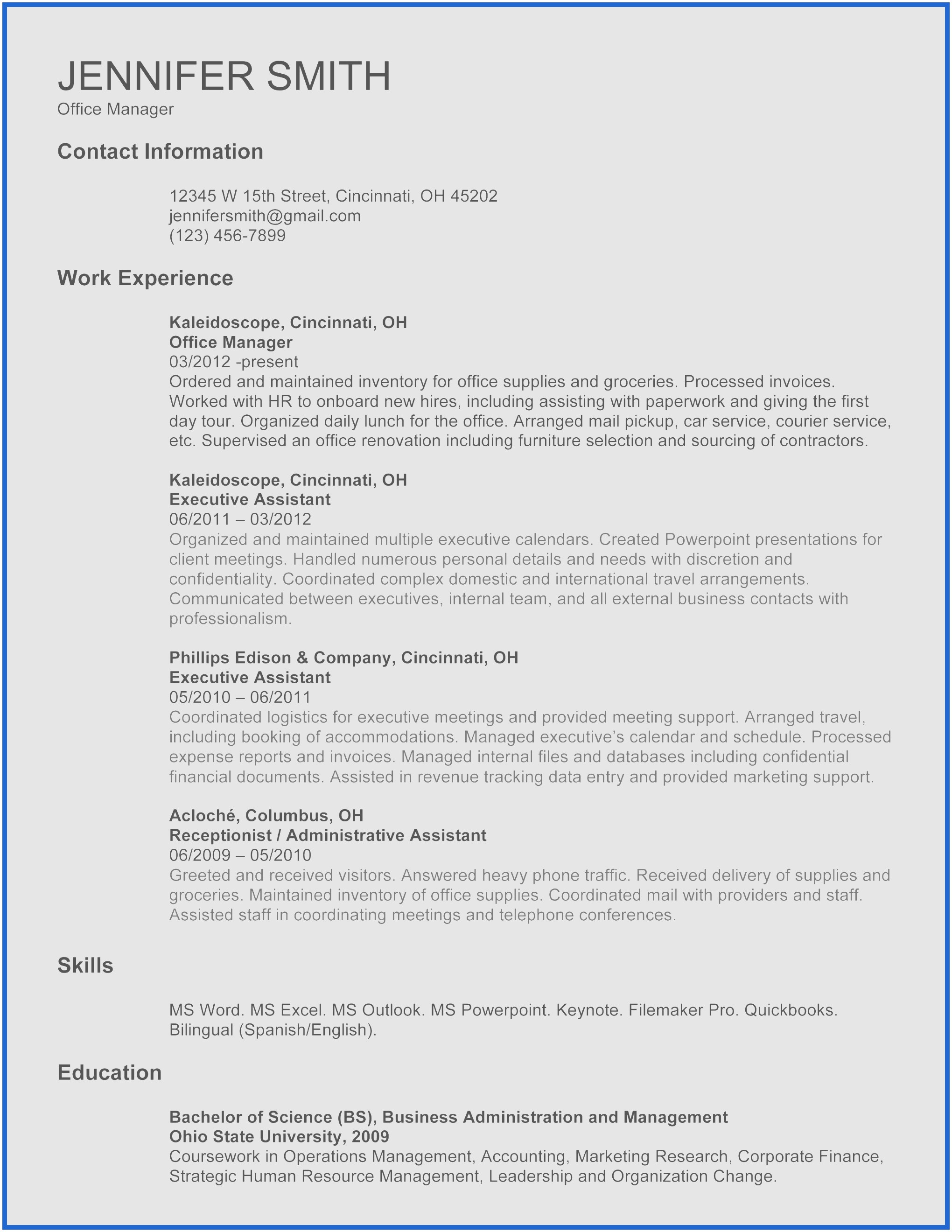 Operations Manager Resume Template - Cv Resume Template Word