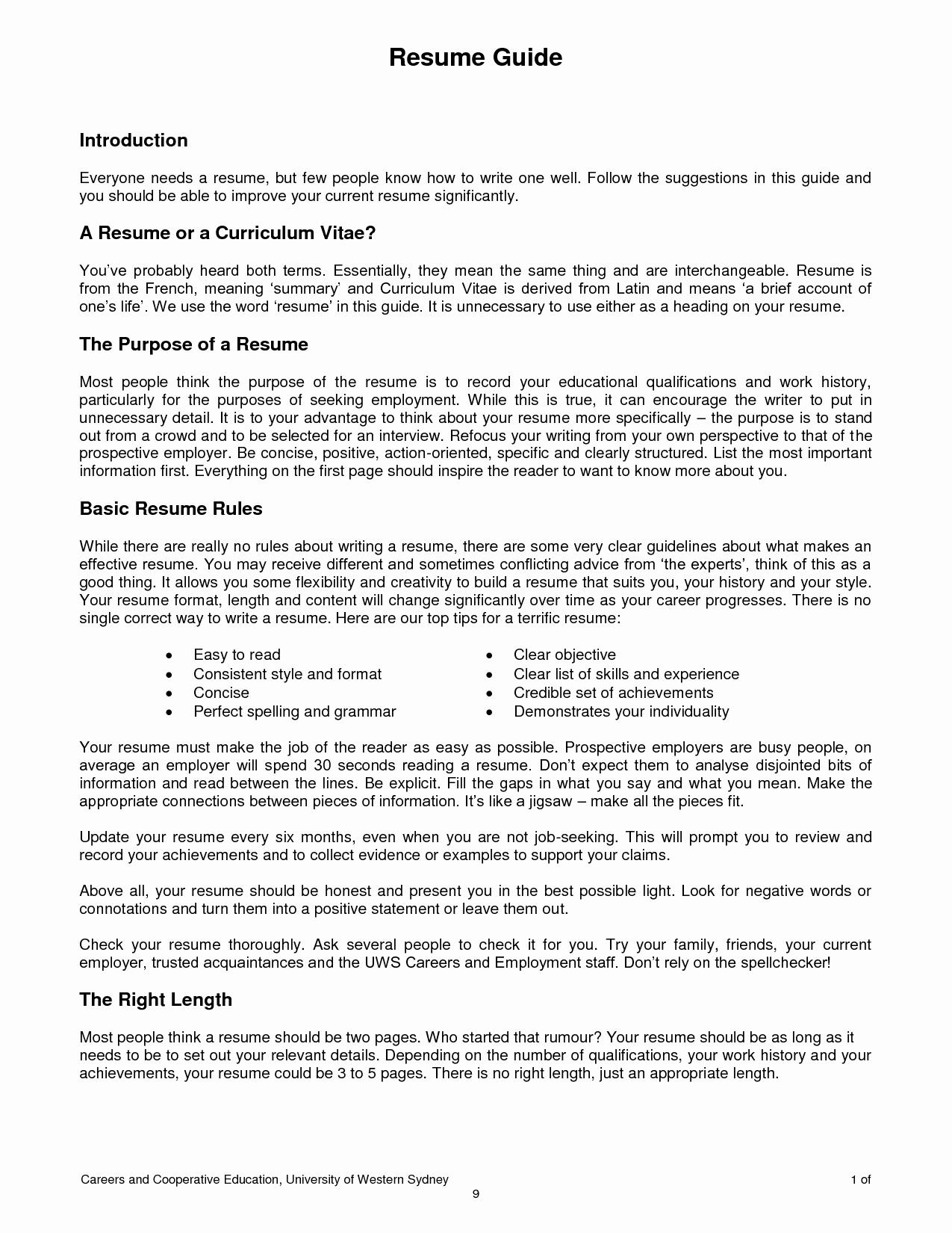Ot Resume Template - 2 Page Resume Examples Lovely Two Page Resume Sample Beautiful