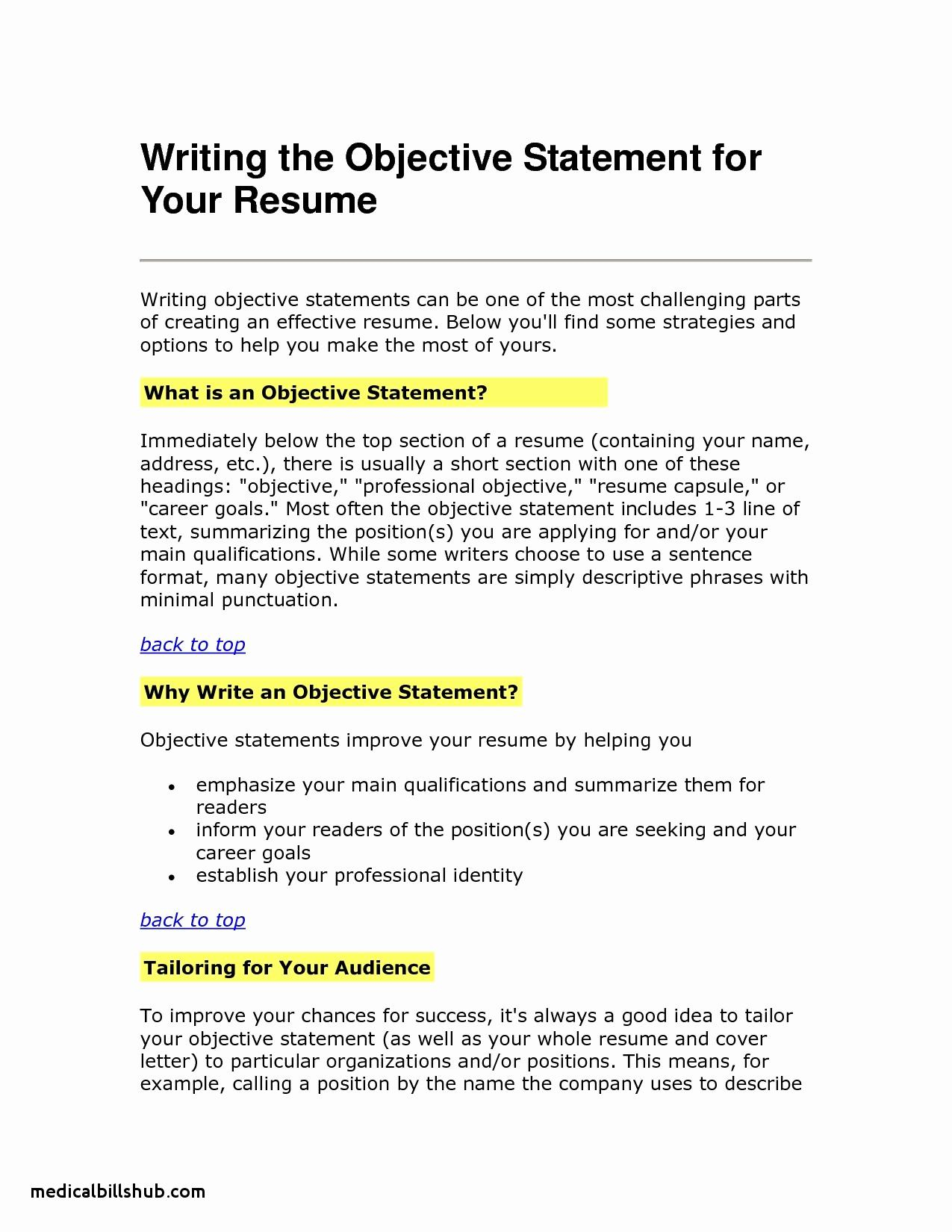 Painter Resume Template - Resume Objective Example Unique Best Sample College Application