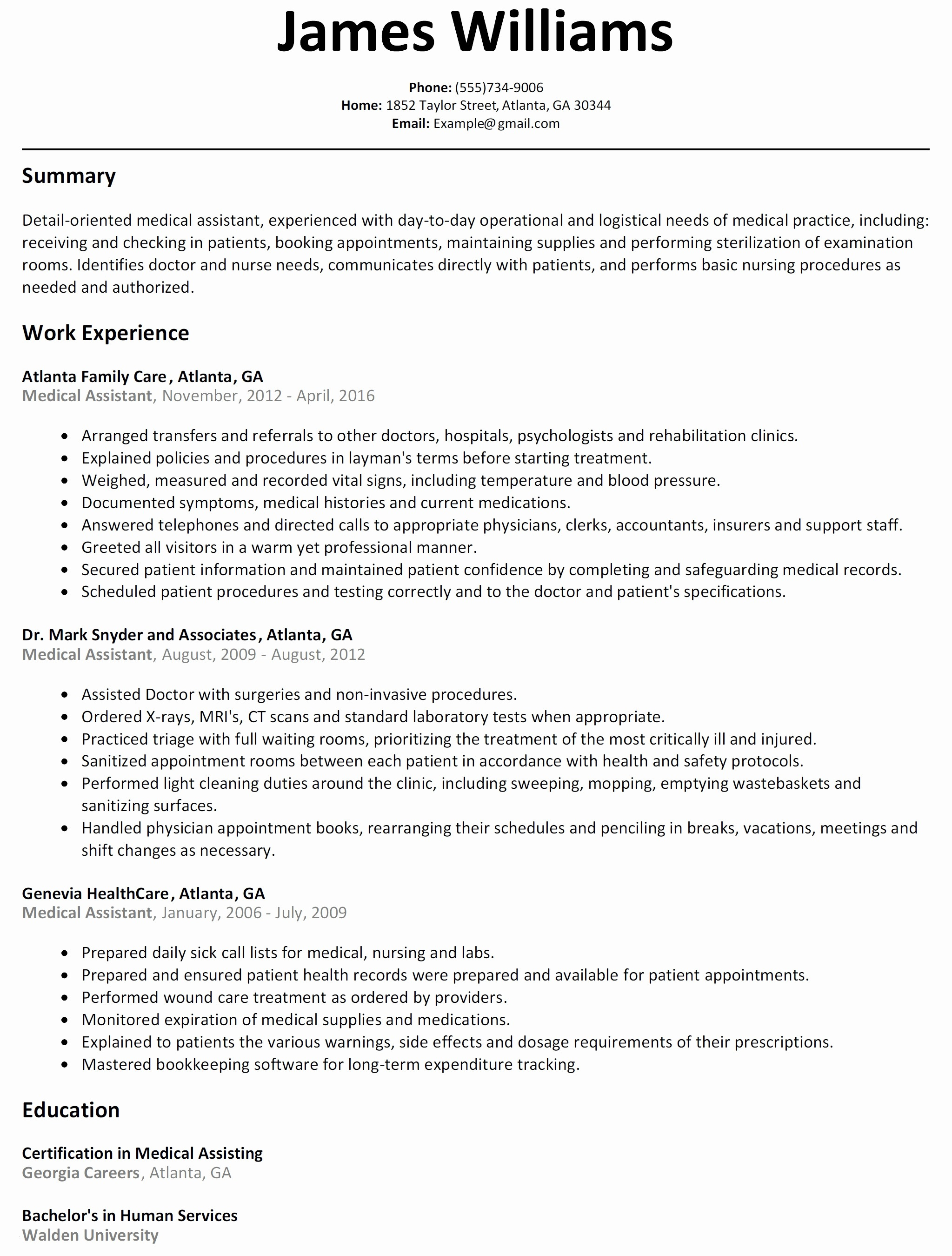 Paraprofessional Resume Template - Simple Basic Resume format Paragraphrewriter