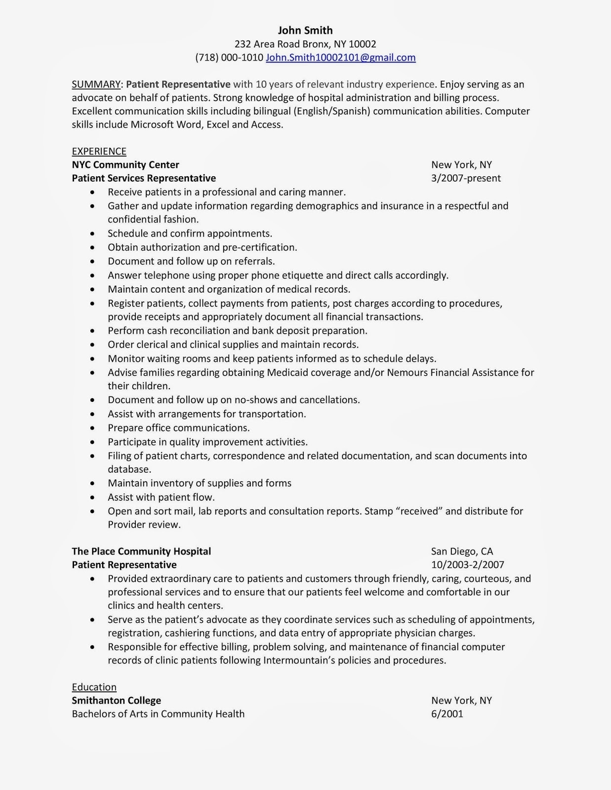 patient care representative resume example-Patient Service Representative Resume Recent Patient Service Representative Resume 1 Impressive 15-i