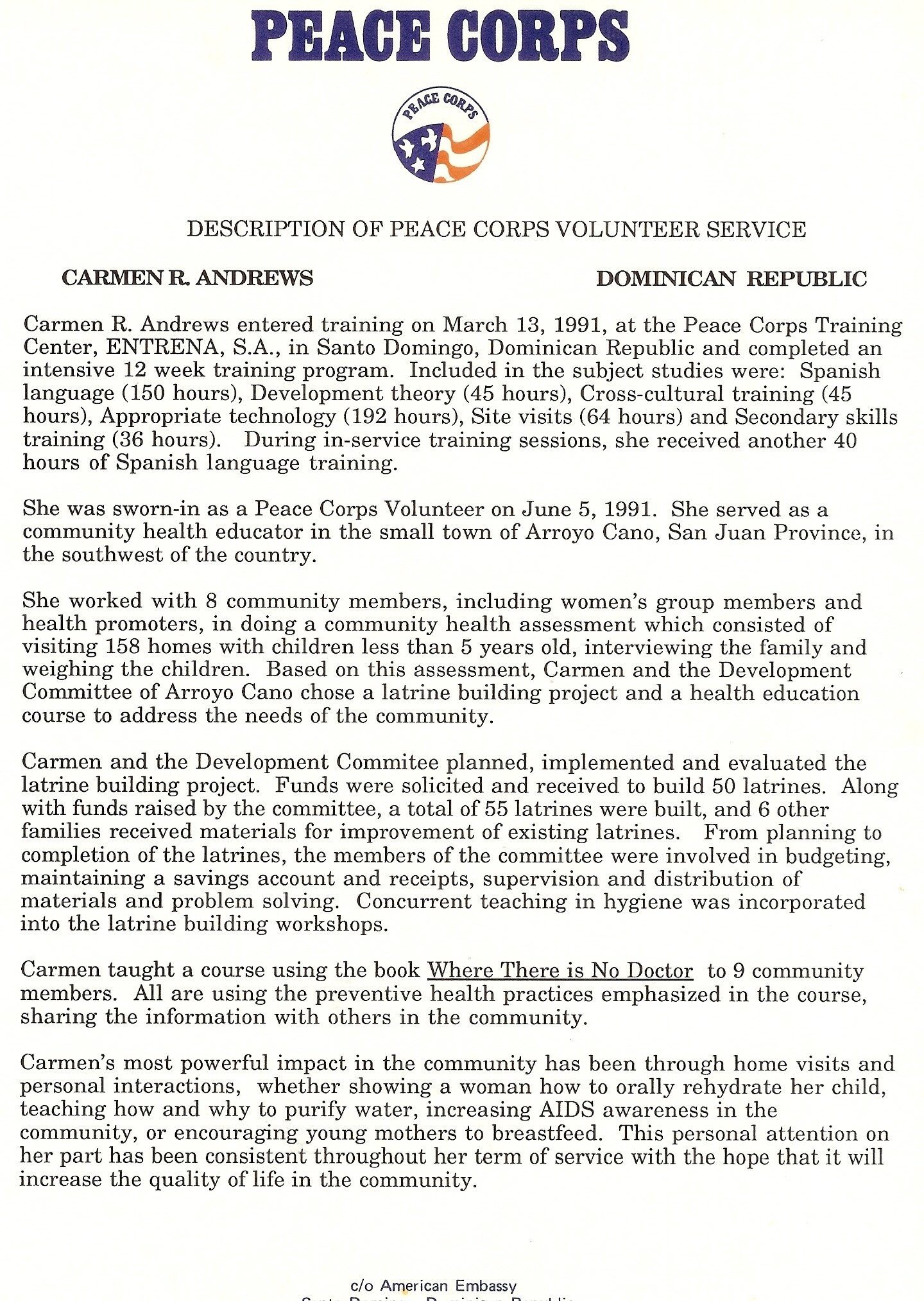 Peace Corps Resume Example - Peace Corps Resume