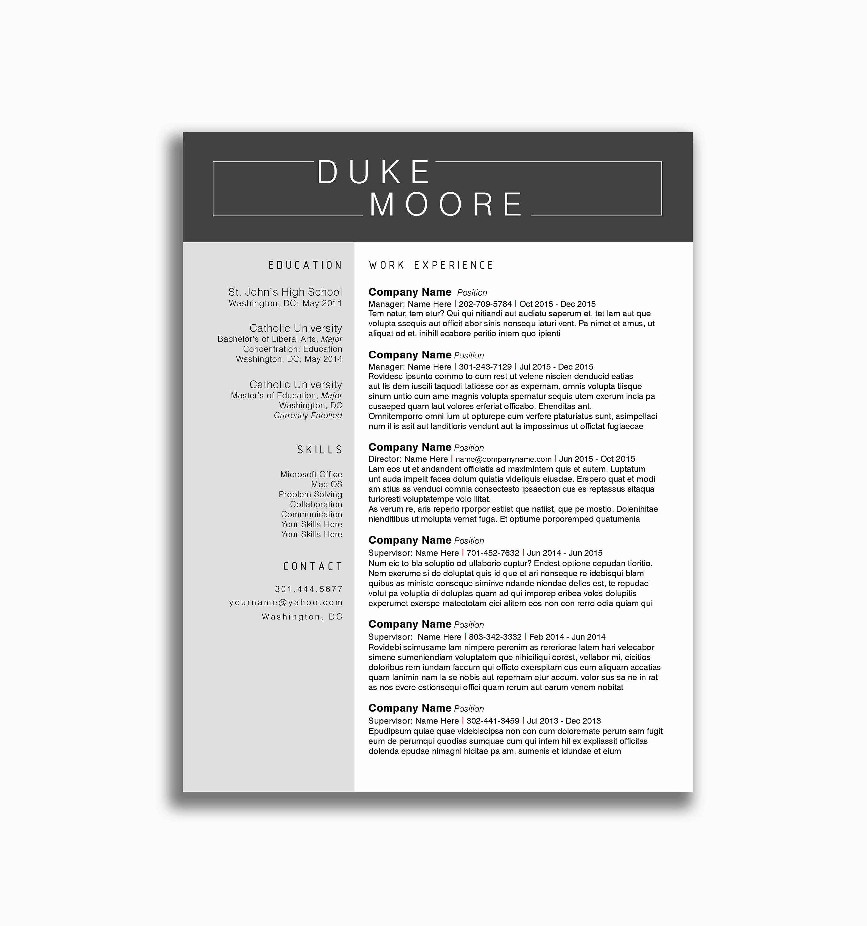 Penn State Resume Template - 78 New Collection Cv Examples for Highschool Students Nz