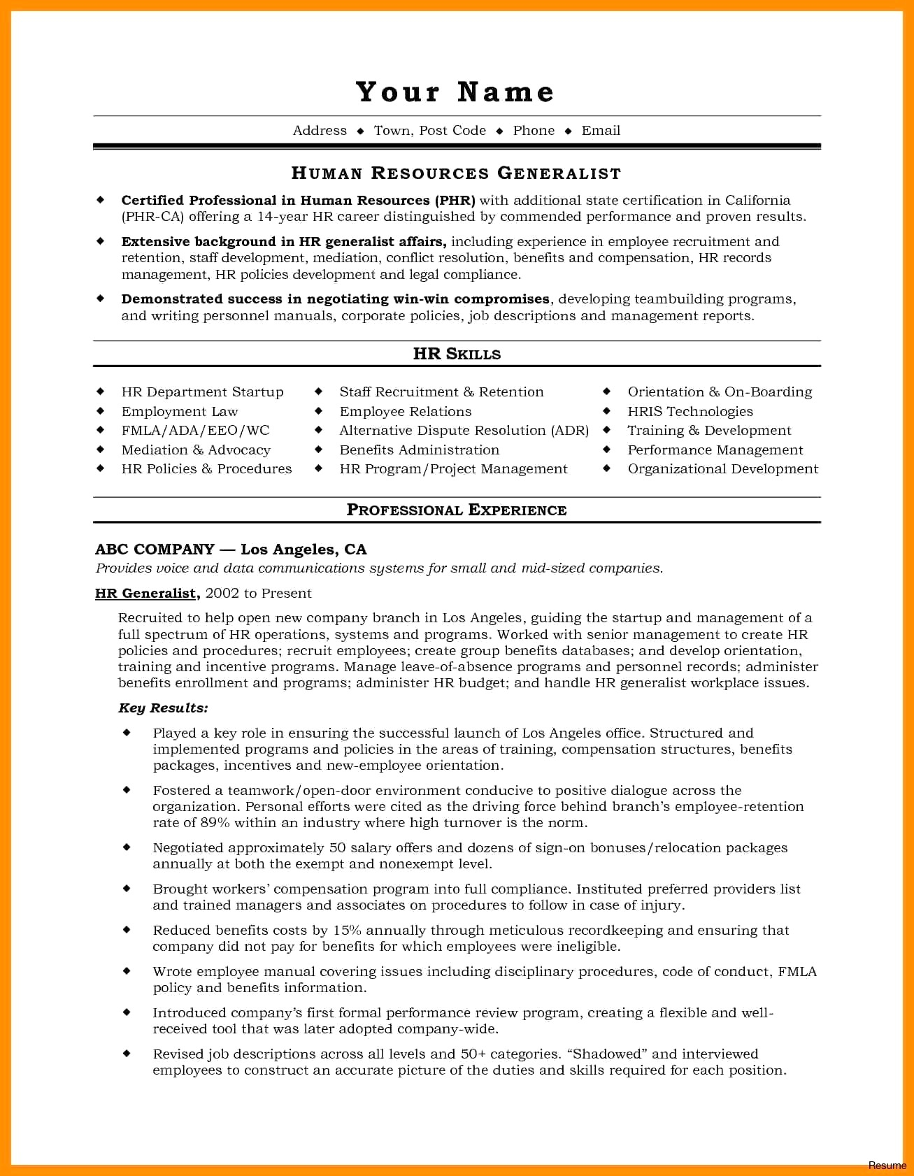 Performance Resume Example - How to Start A Resume Awesome for It Job Unique Best Examples