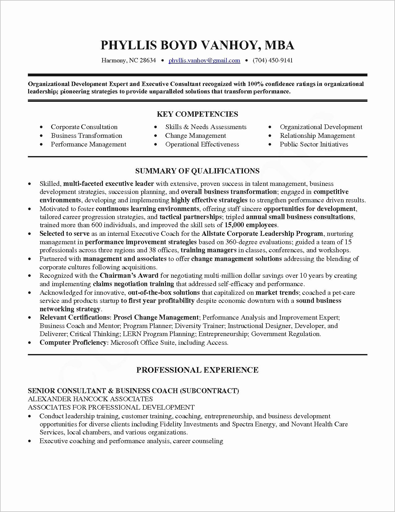 Performance Resume Example - Hr Consultant Resume Sample New Lovely Resume Pdf New Resume