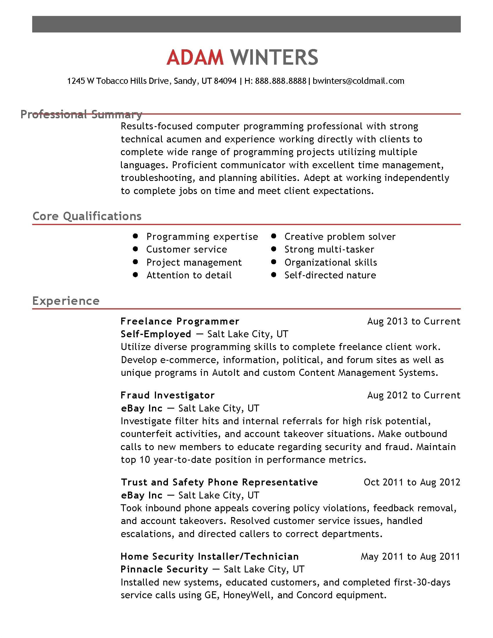 Performing Resume Template - 40 Standard Build A Free Resume