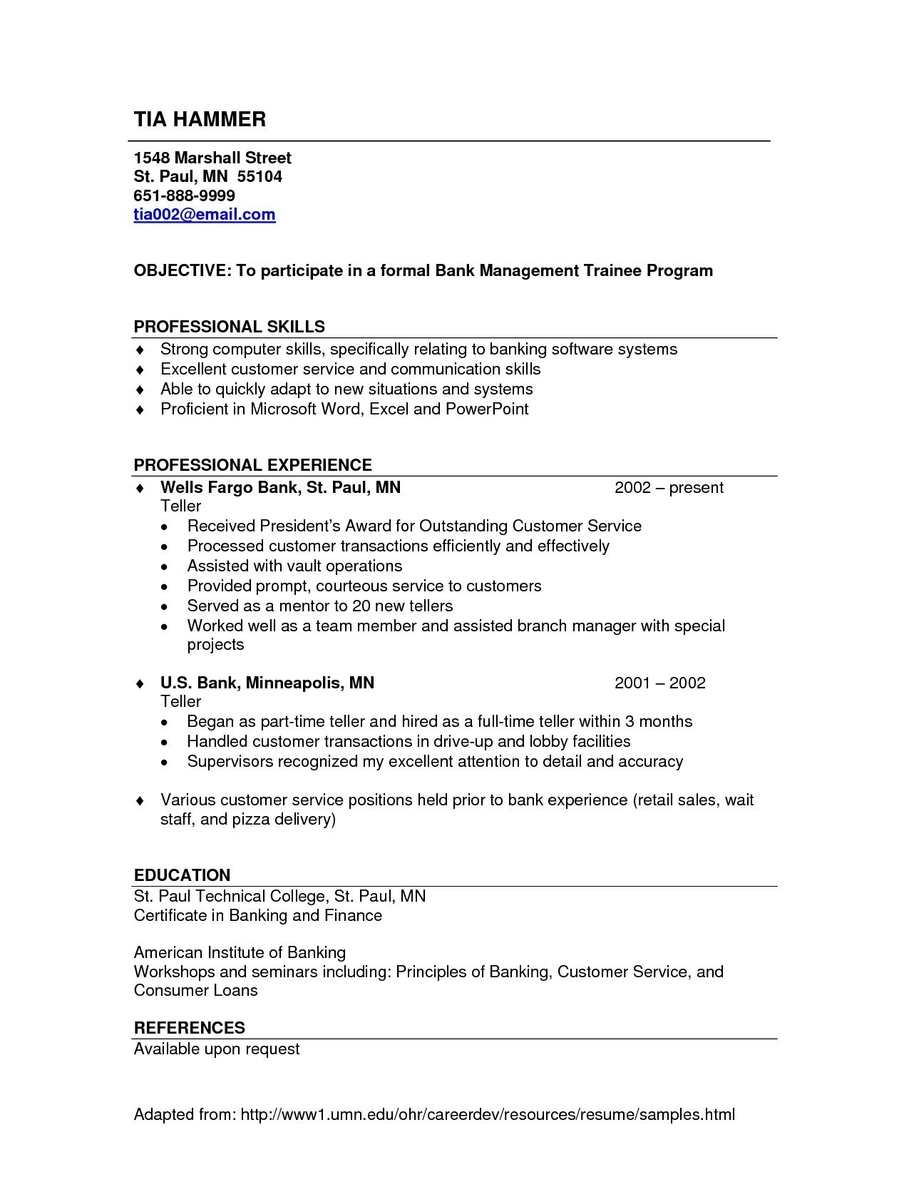 Personal Banker Resume - Banking Resume Sample Awesome Banking Resumes Templates Nanny Resume