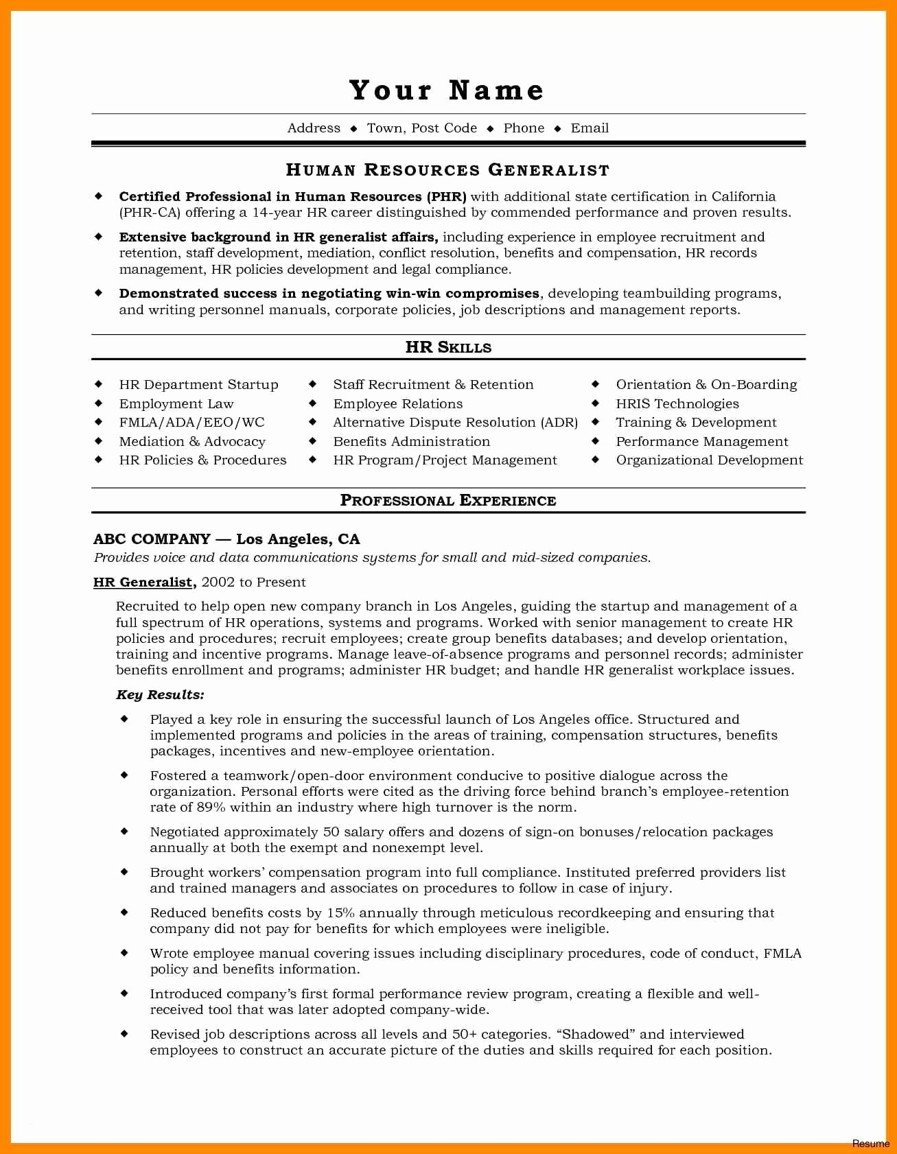 Personal Skill for Resume - Resume Experience Example Fresh Resume for It Job Unique Best