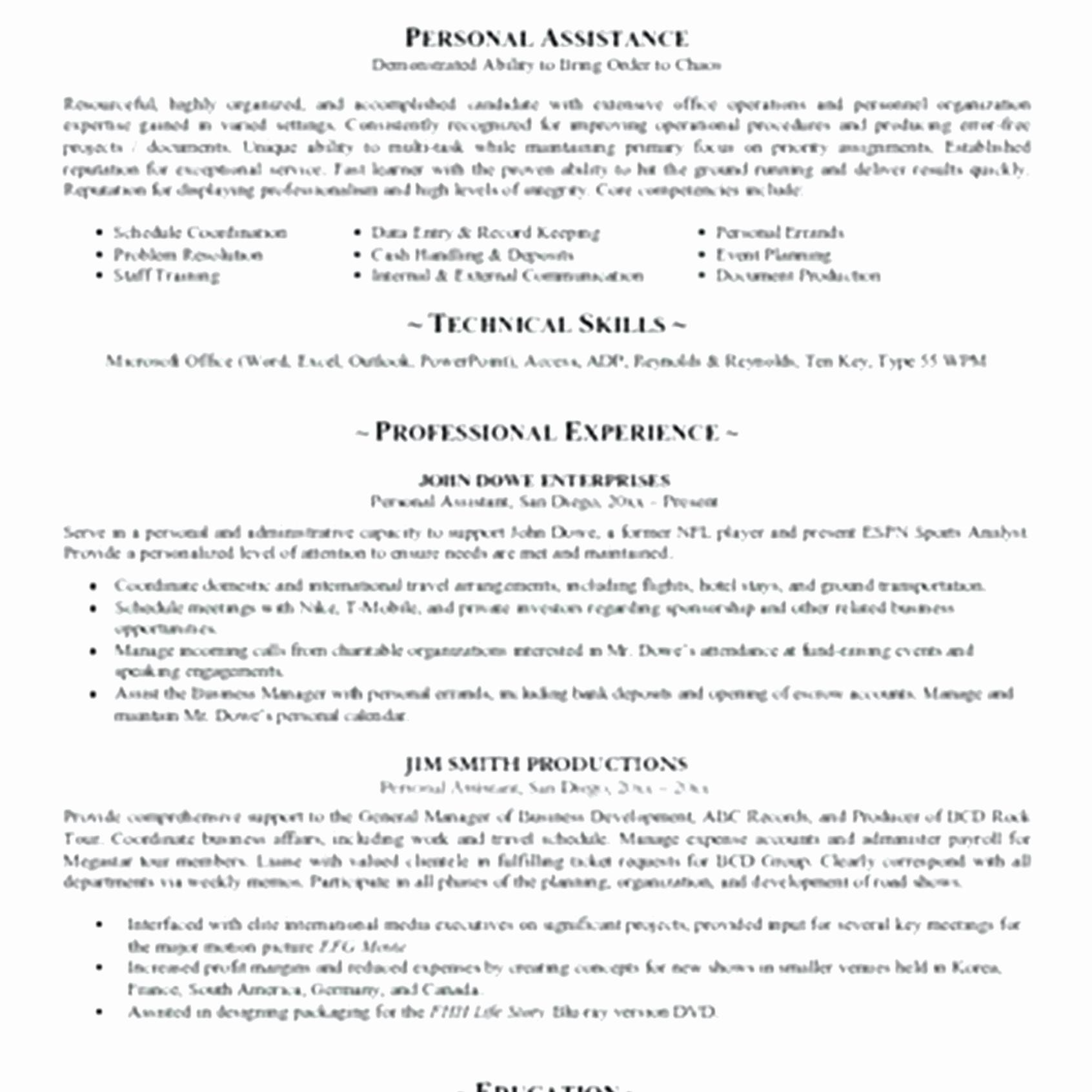 Personal Trainer Resume Template - Horse Trainer Resume Inspirationa Resume format for Trainers Unique