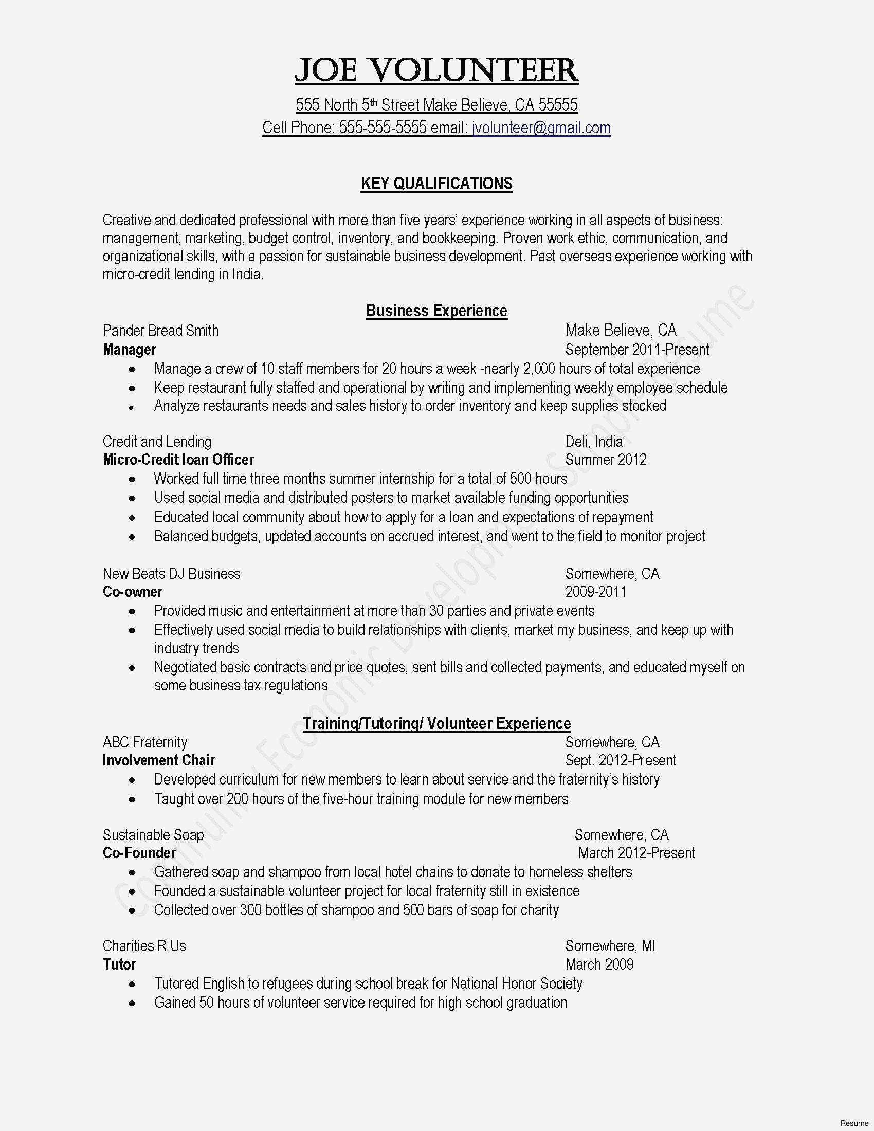 Personal Training Resume Template - New Artist Resume Template