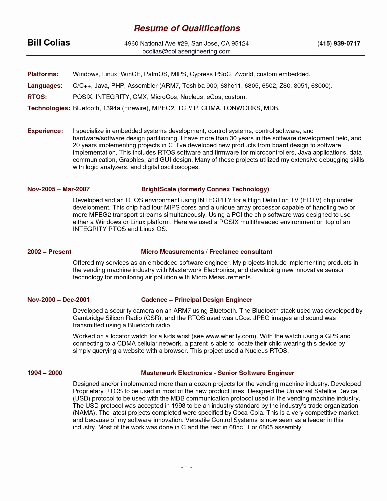 Photographer Resume Template Download - Irs Letter Template Download