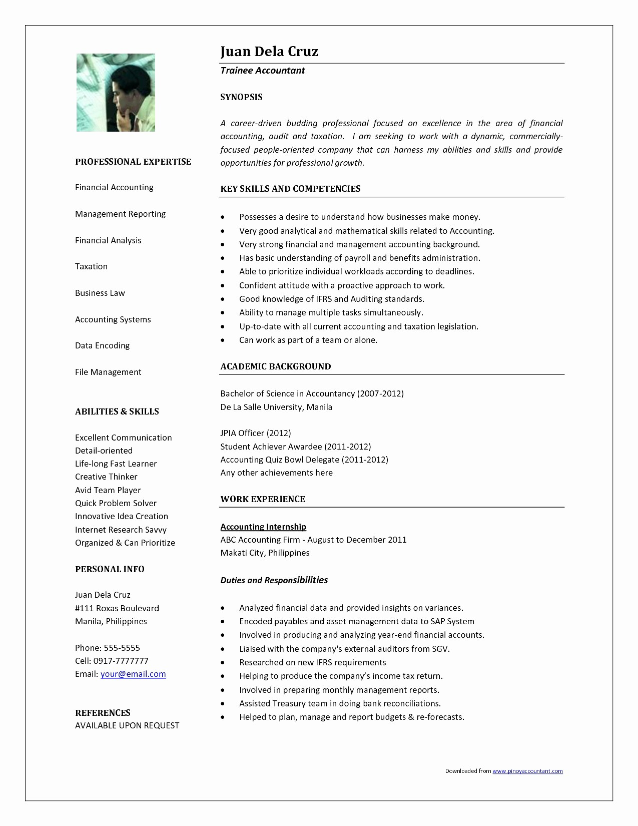 Photography Resume Template - Business Letter Template Examples