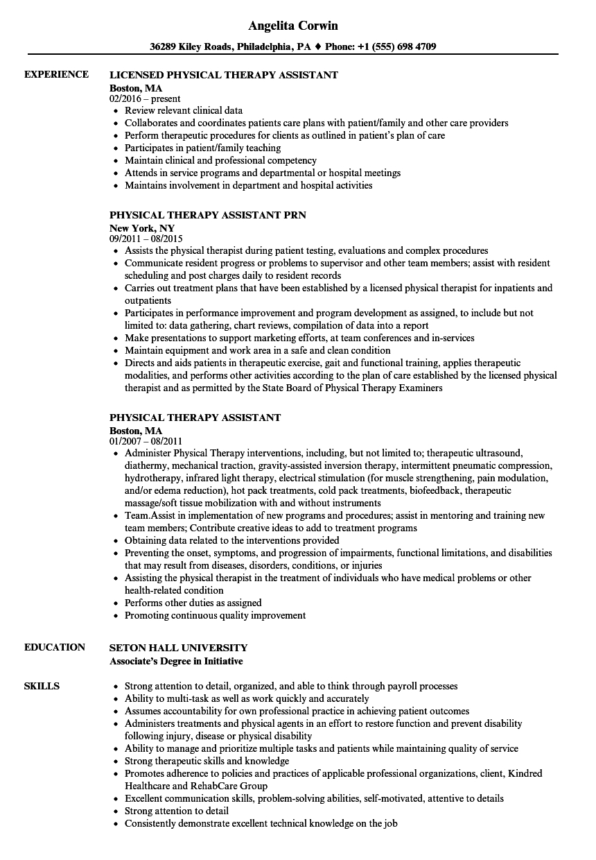 Physical therapist Aide Resume Samples - Physical therapist Aide Resume Fine Physical therapy Aide Resume