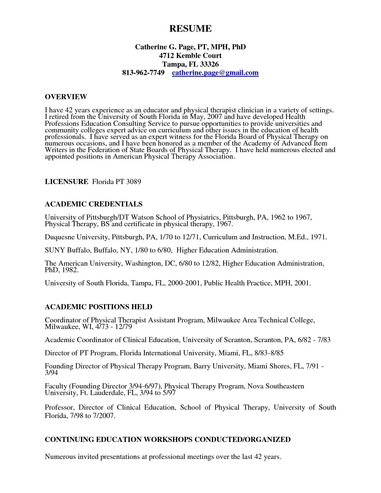Physical therapist Resume - 58 Wondeful Physical therapy Resume Sample Occupylondonsos