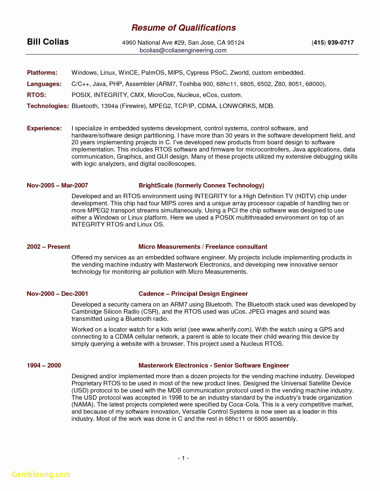 Plain Text Resume Template - Download Awesome Pr Resume
