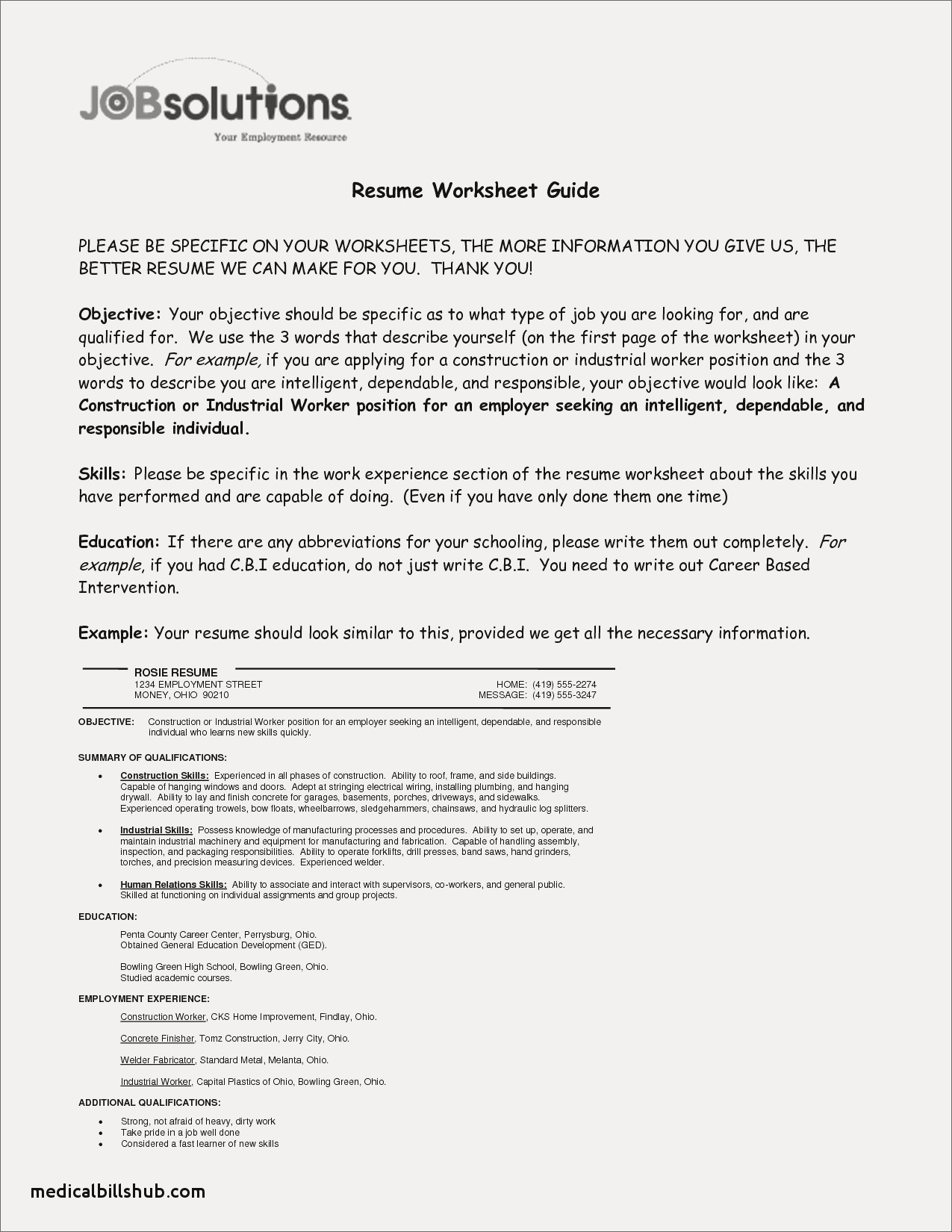 Plumber Resume Template - Objective for Resume Healthcare Example Best Best Sample College