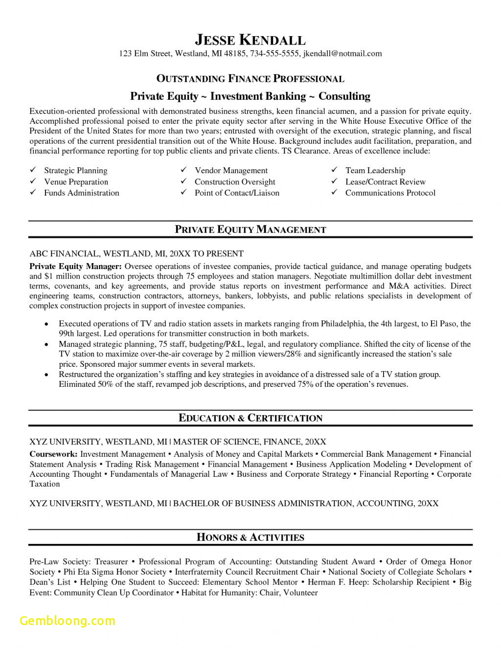Private Equity Resume Template - Download Fresh Private School Administration Sample Resume