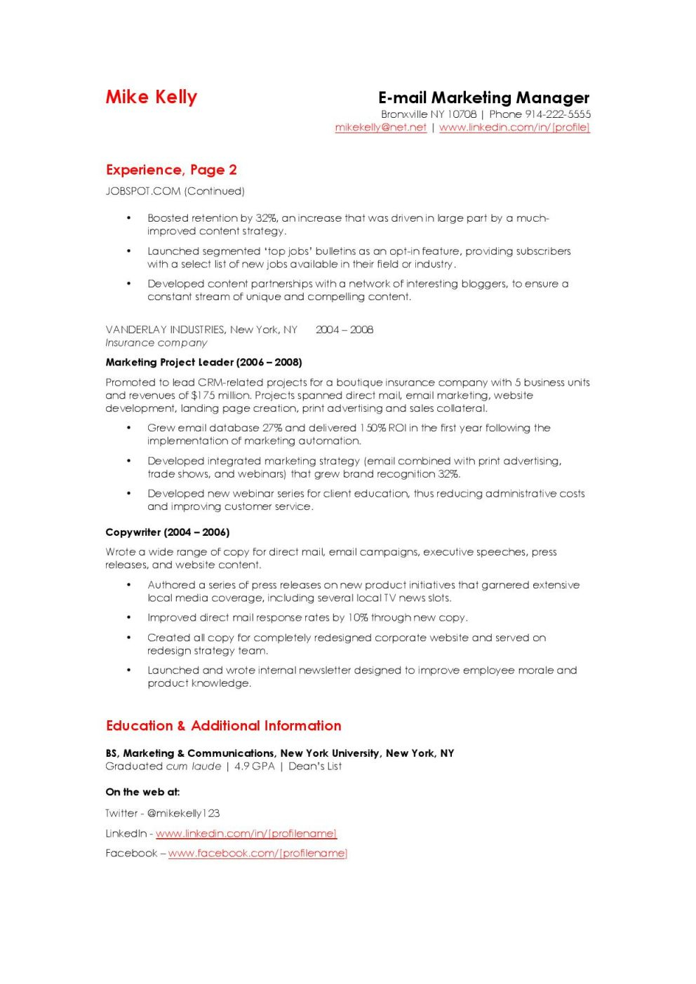 Product Marketing Manager Resume - Well Liked Email Marketing Manager Resume Zf38 – Documentaries for