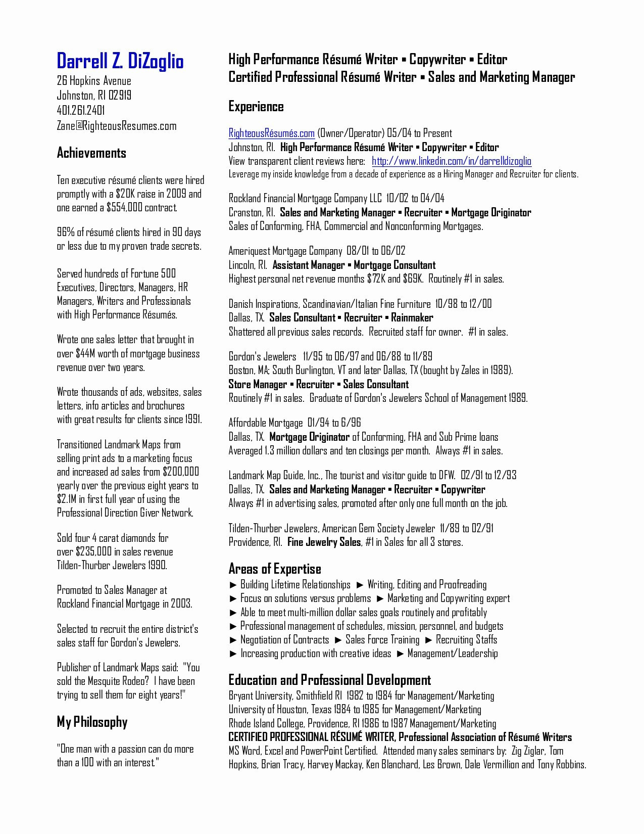 9 professional association of resume writers collection