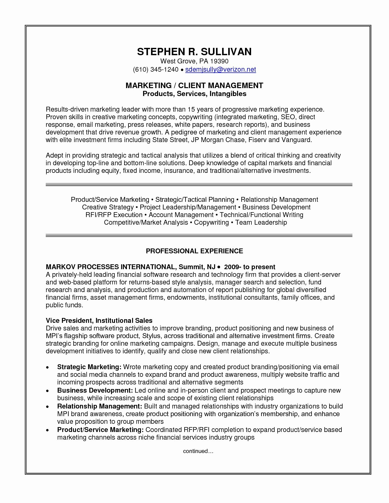 Professional Business Resume - Experienced Professional Resume Template Best top Resume Template