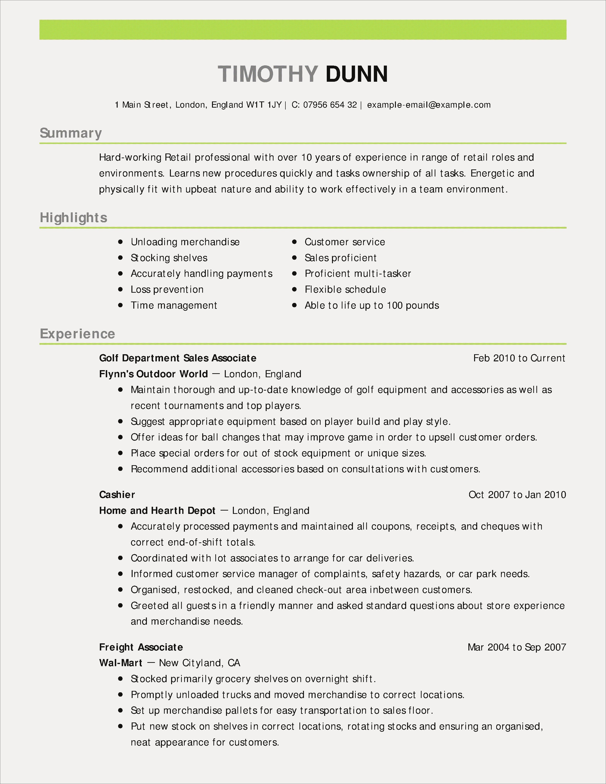 Professional Experience Resume - Resume Sample Experience New Restaurant Resume Sample Unique