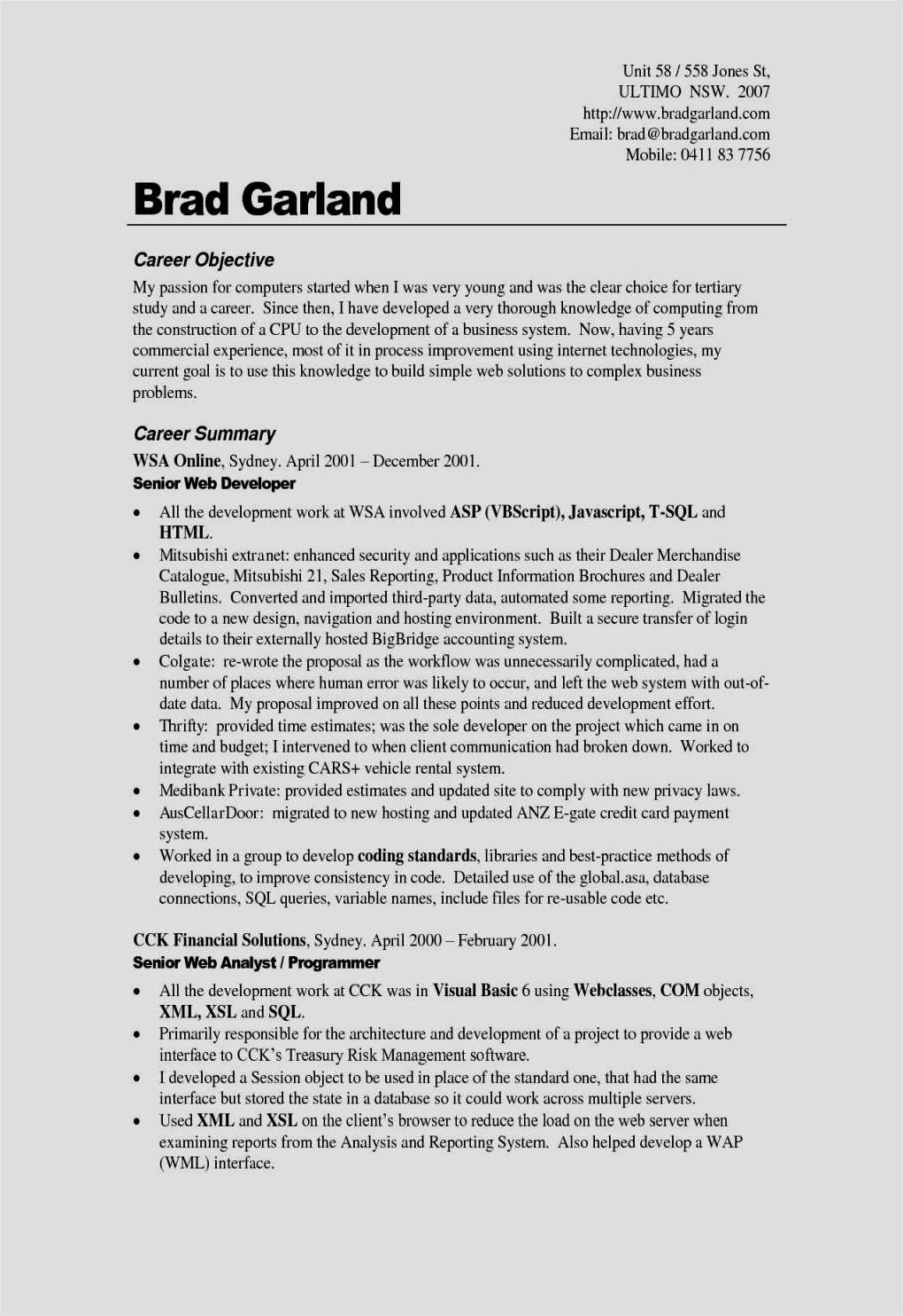 Professional Resume Cover Letter - Cover Letter How to Start Free Resume Templates