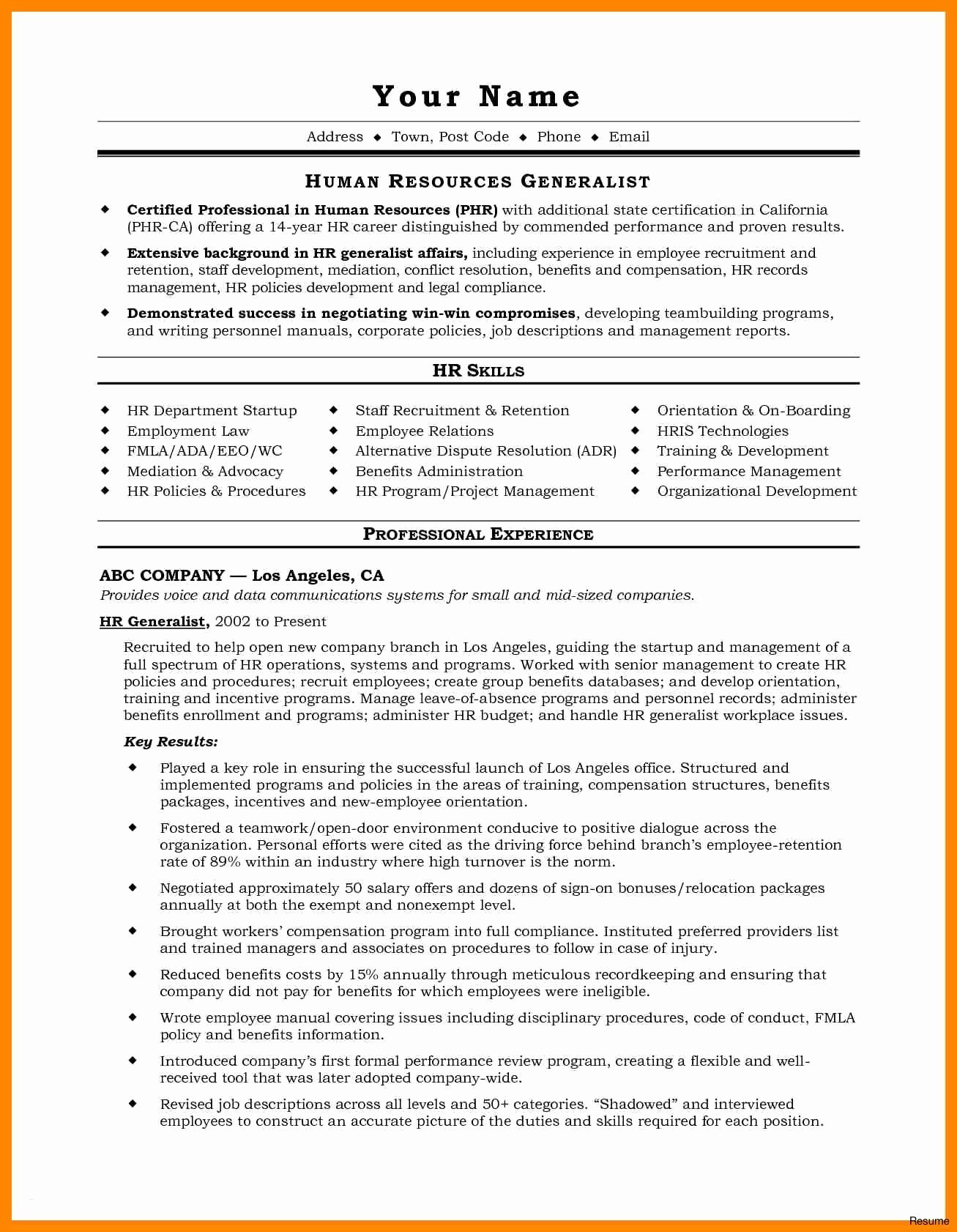 Professional Resume Helper - Example A Professional Resume for A Job Free Downloads Resume for