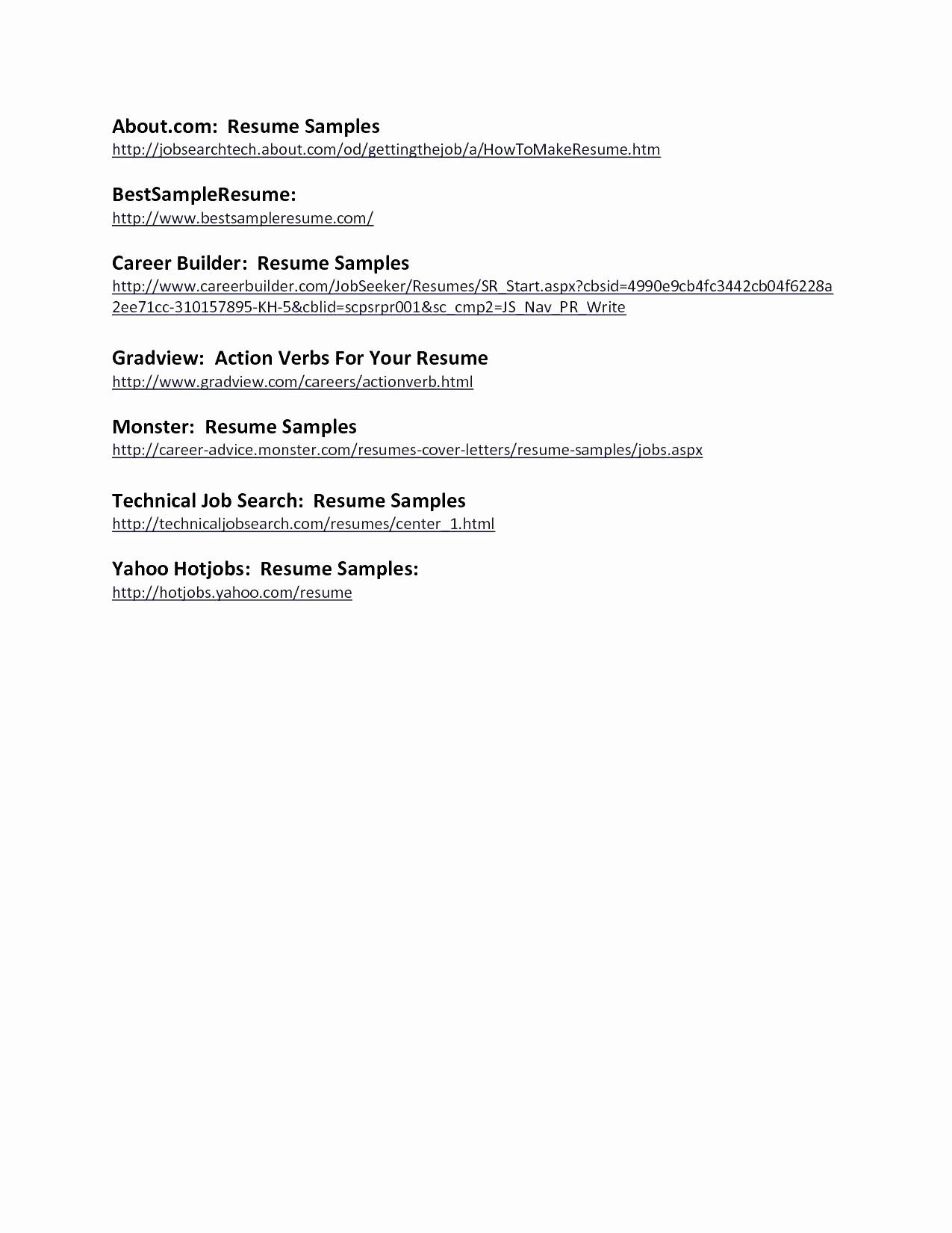 Professional Resume Outline - 24 Resume Outline Examples