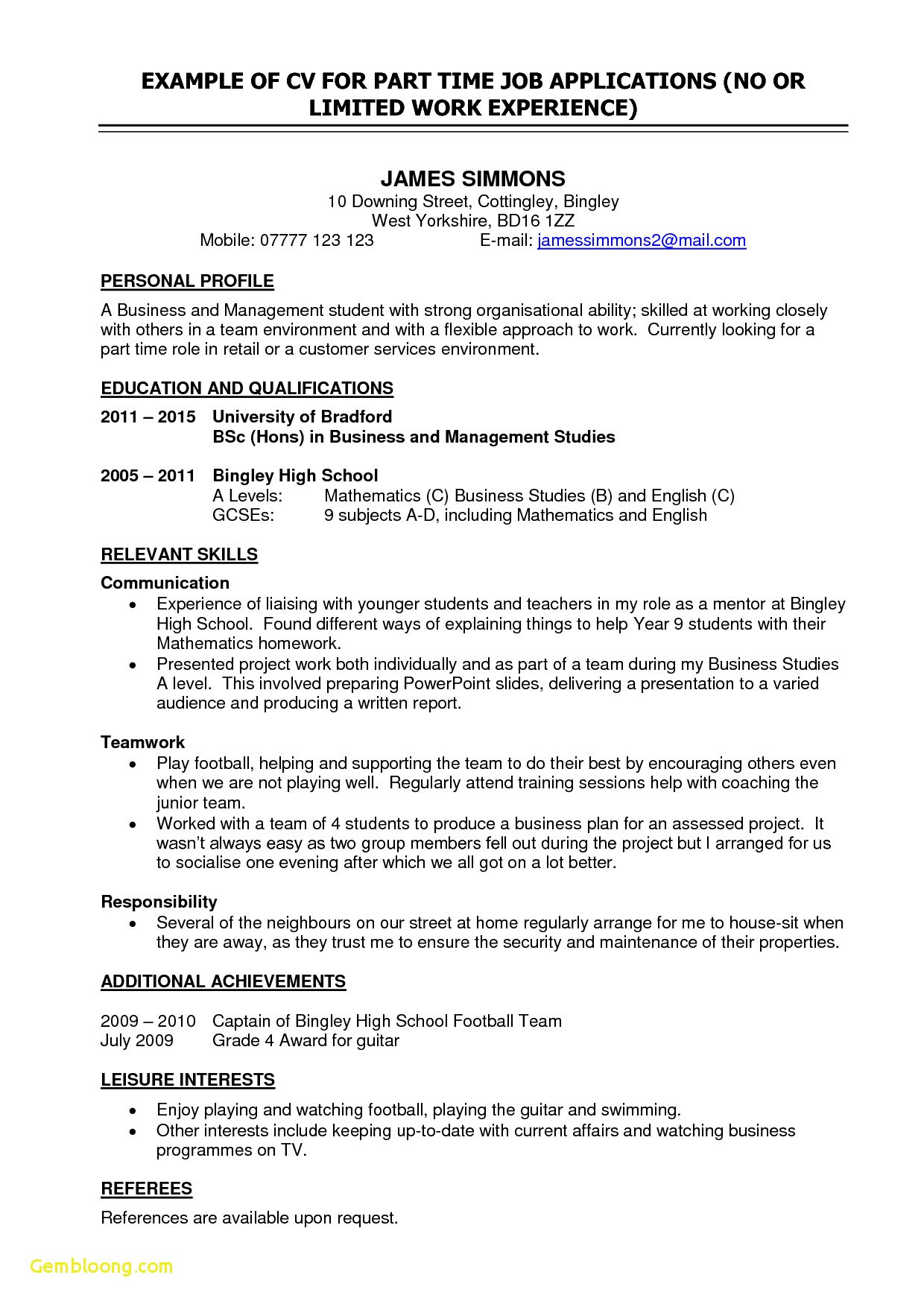 Professional Resume Outline - Resume Template for College Student Example College Resume