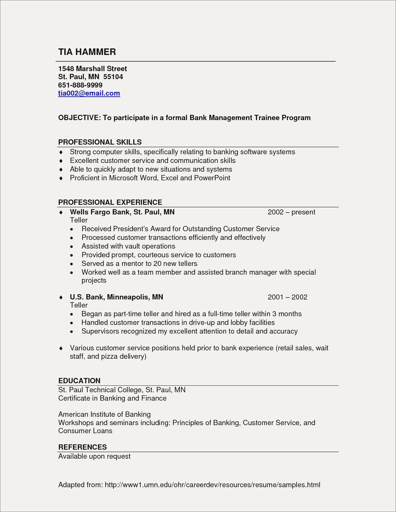 Professional Resume Sample - Professional Reference List Template Customer Service Resume Sample