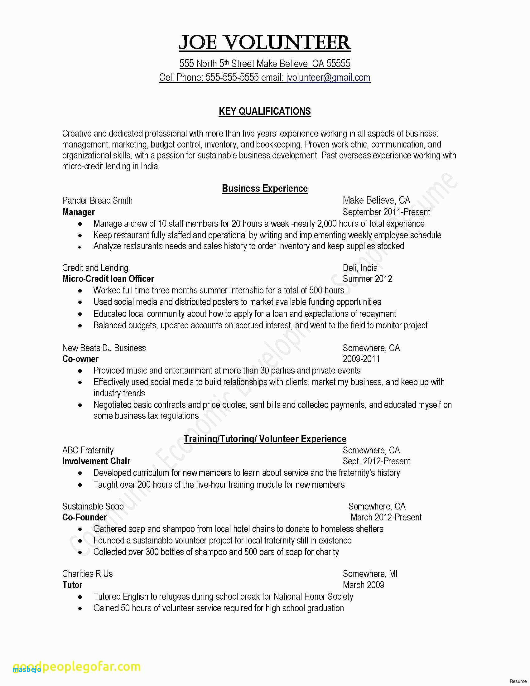 Professional Resume Summary - 45 Luxury Most Effective Resume format Template