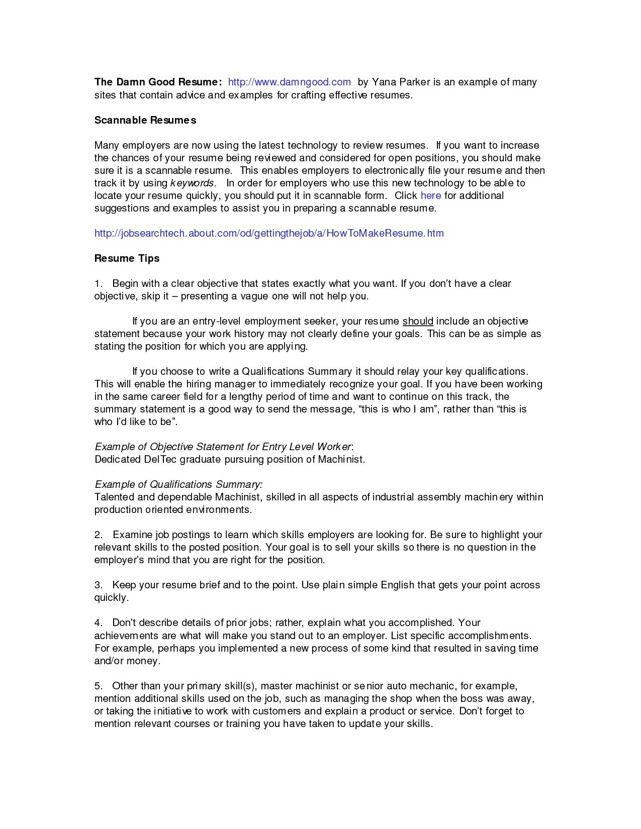 14 professional summary for resume no work experience