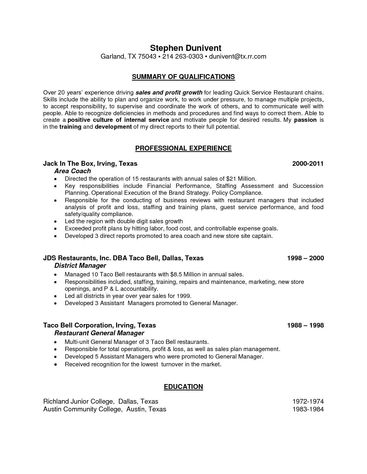 9 Professional Summary Resume Examples Samples