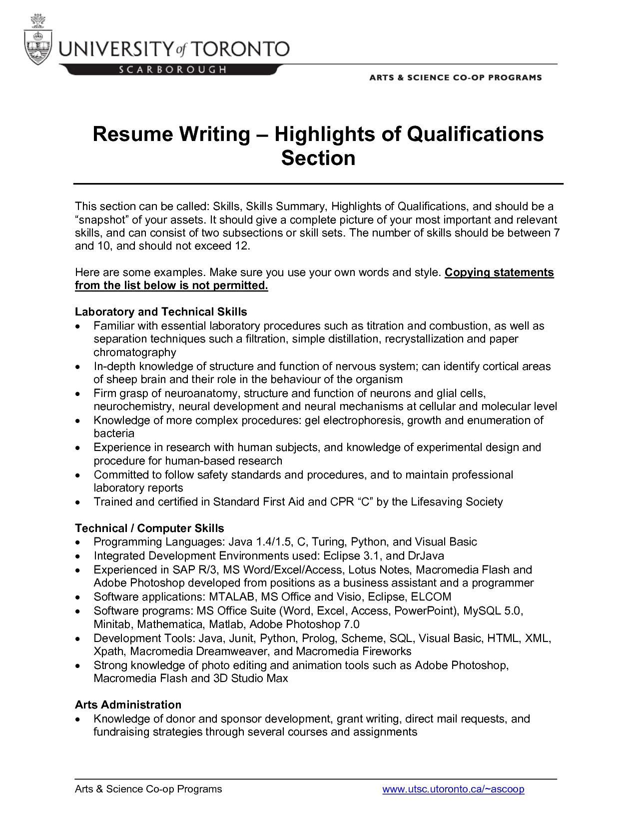 Profile Section Of Resume - 60 New Examples Resume Skills